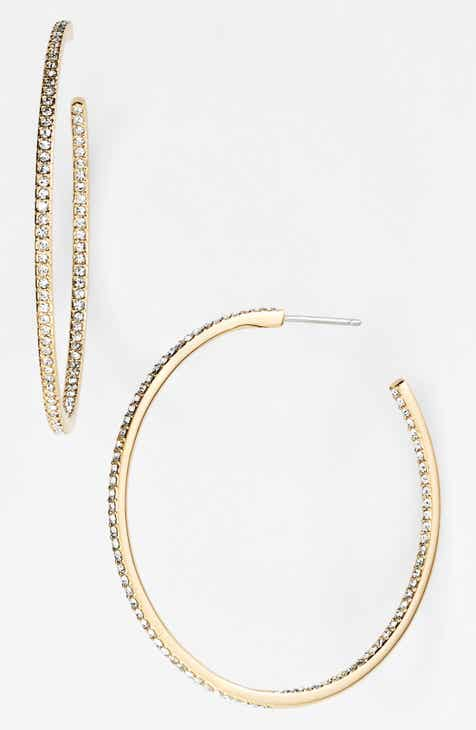 Nadri Medium Inside Out Hoop Earrings Nordstrom Exclusive