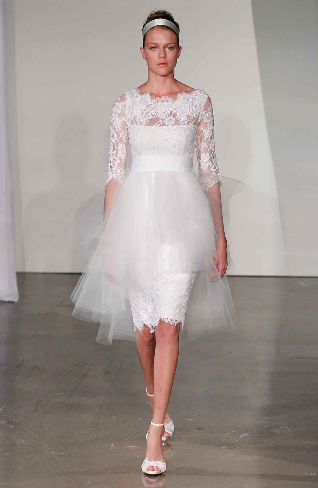 Alternate Image 4  - Marchesa Tulle Overskirt Embroidered Lace Dress (In Stores Only)