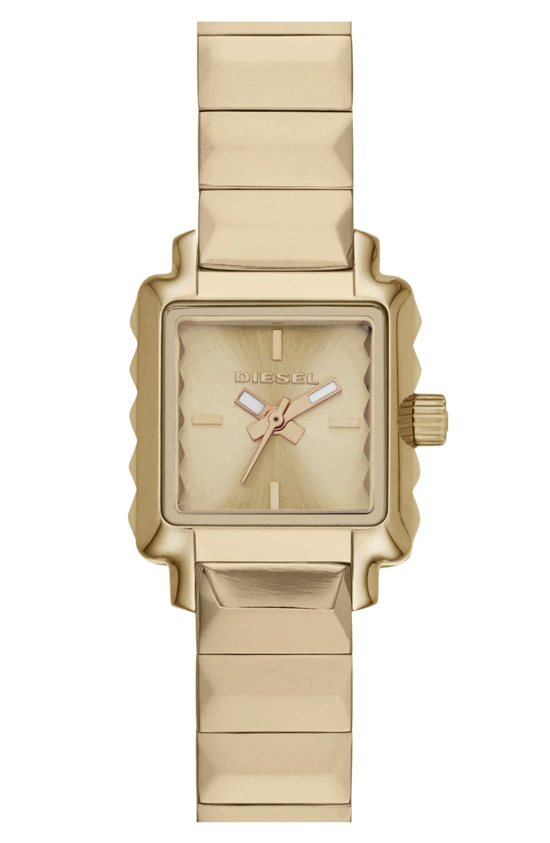 Alternate Image 1 Selected - DIESEL® 'Ursula' Square Bracelet Watch, 19mm