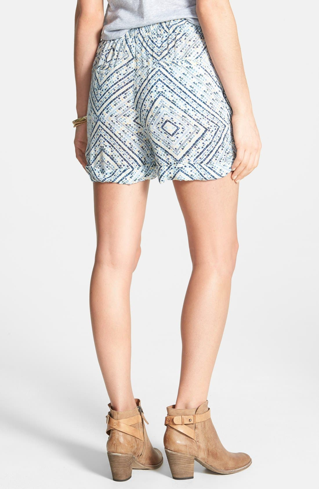 Alternate Image 2  - Free People Twist Front Ikat Print Shorts