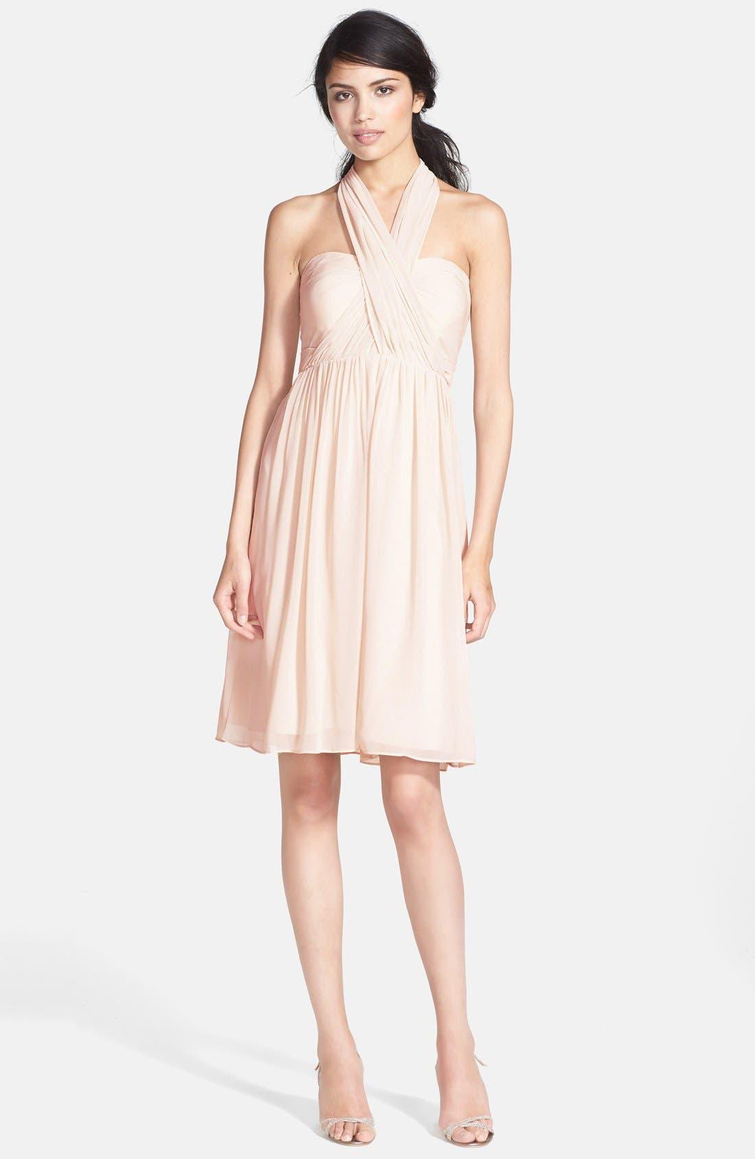Alternate Image 4  - Jenny Yoo 'Keira' Convertible Strapless Chiffon Dress