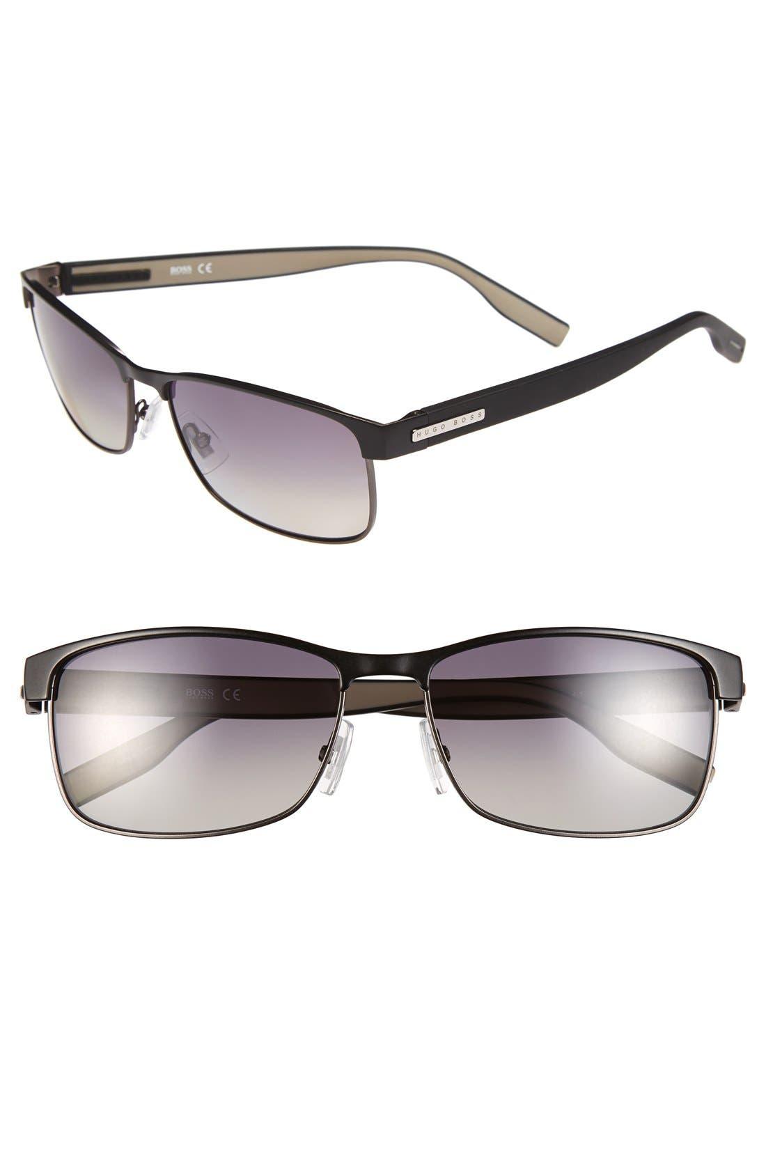 Alternate Image 1 Selected - BOSS 58mm Polarized Sunglasses