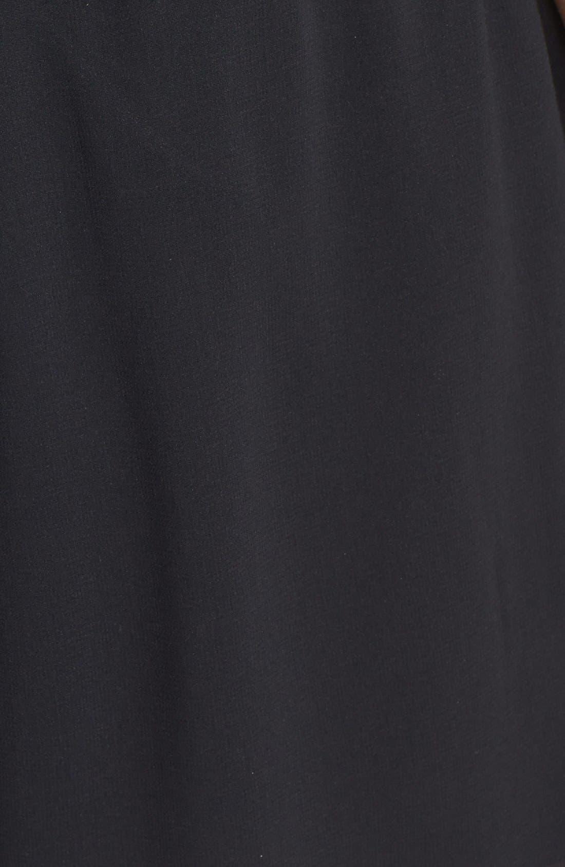 Alternate Image 3  - Socialite Lace Trim High Waist Shorts (Juniors)