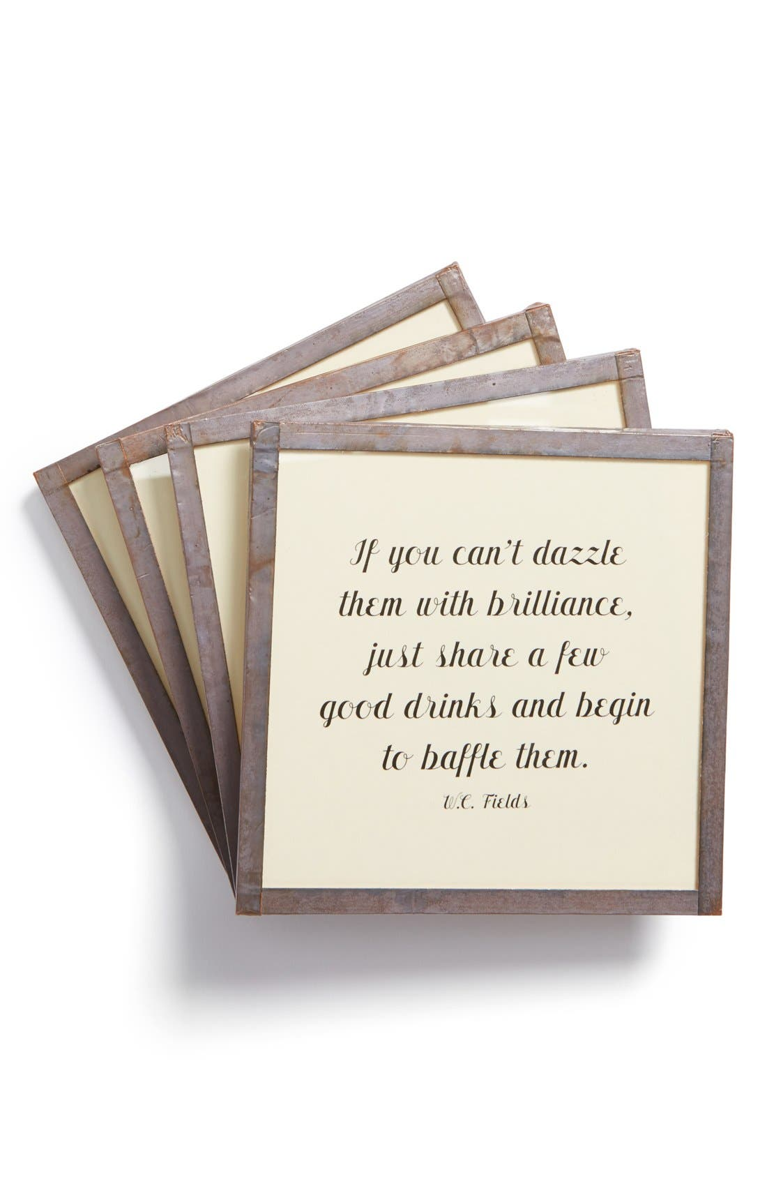 Main Image - Ben's Garden 'If You Can't Dazzle Them' Coasters (Set of 4)