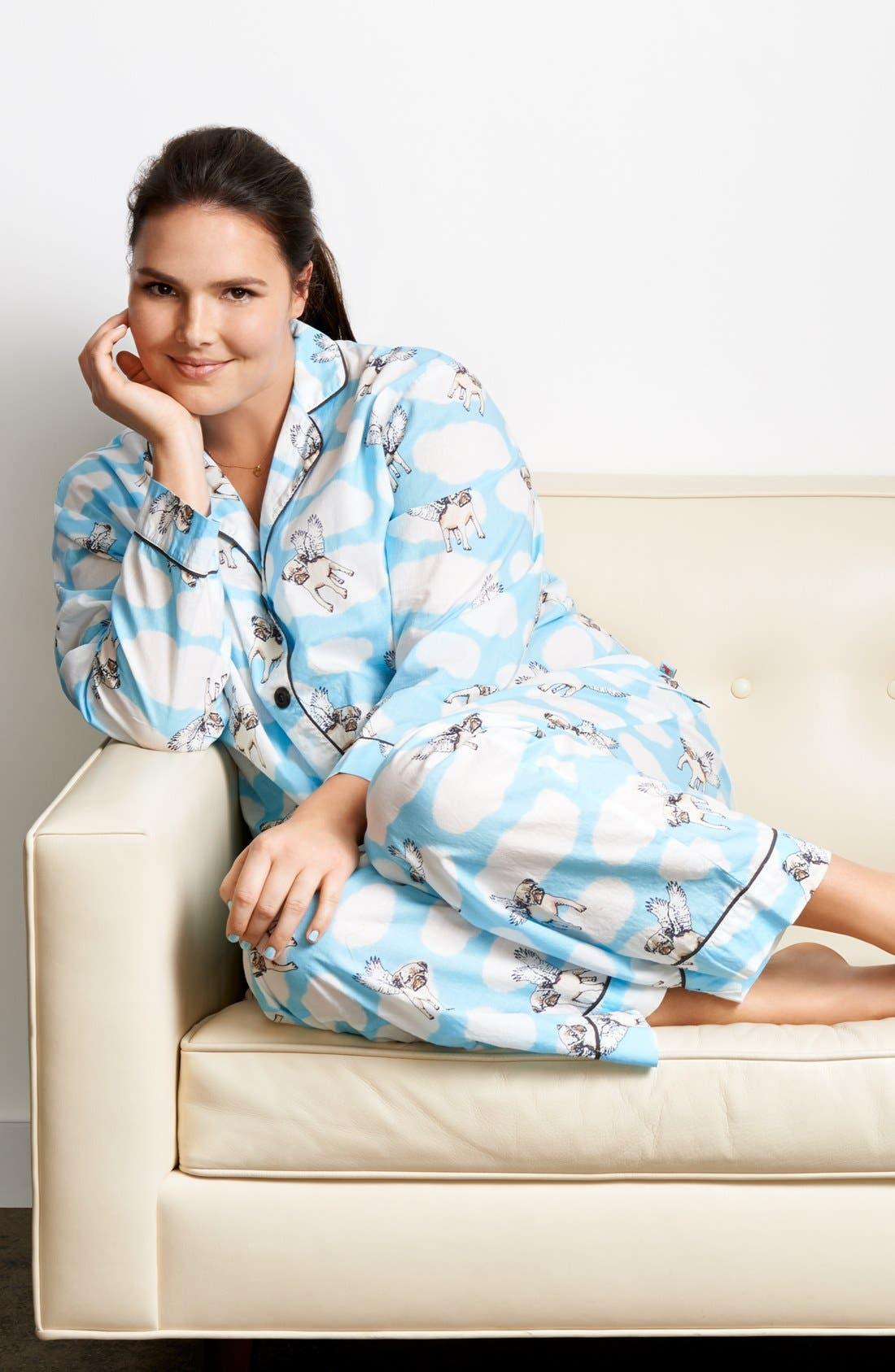Alternate Image 4  - PJ Salvage 'Playful Prints' Cotton Voile Pajamas (Plus Size)