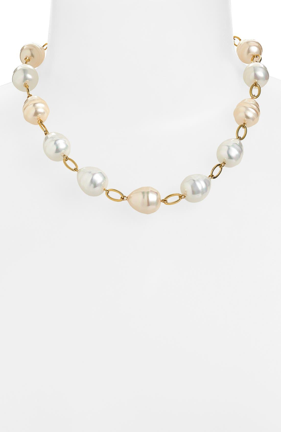 Alternate Image 1 Selected - Lauren Ralph Lauren Shell Pearl Collar Necklace