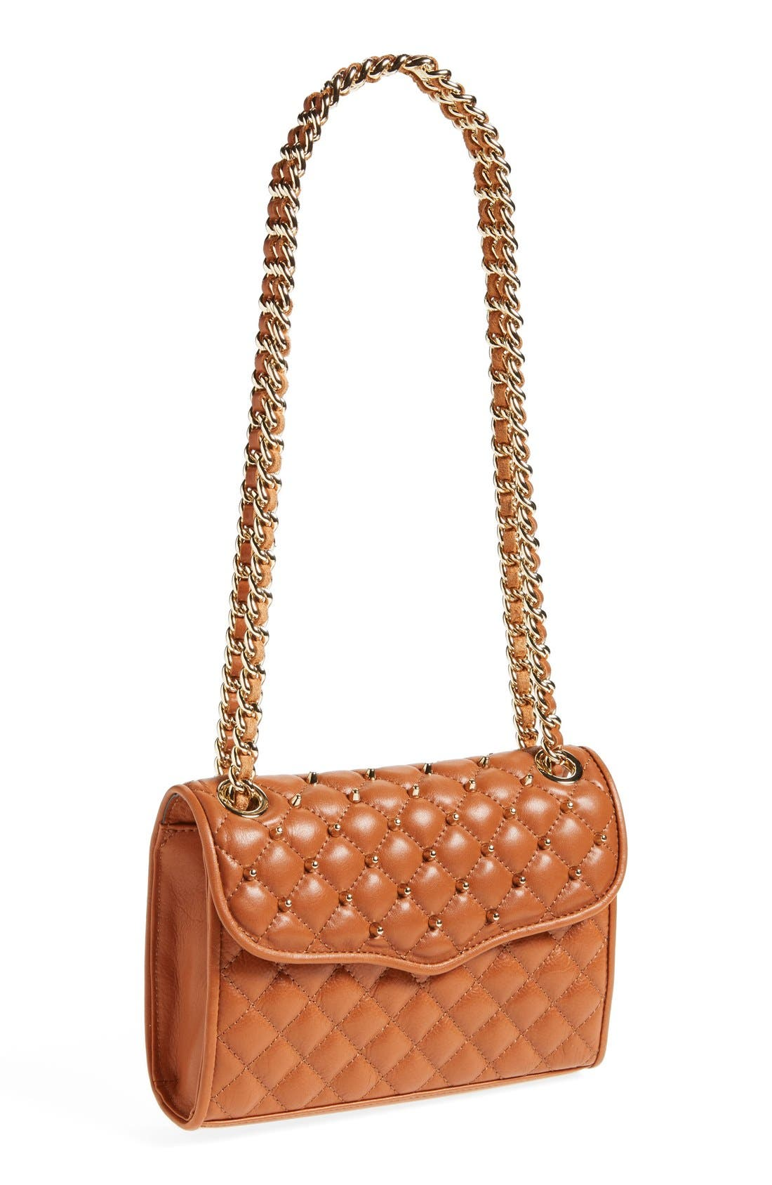 Alternate Image 1 Selected - Rebecca Minkoff 'Mini Quilted Affair with Studs' Shoulder Bag