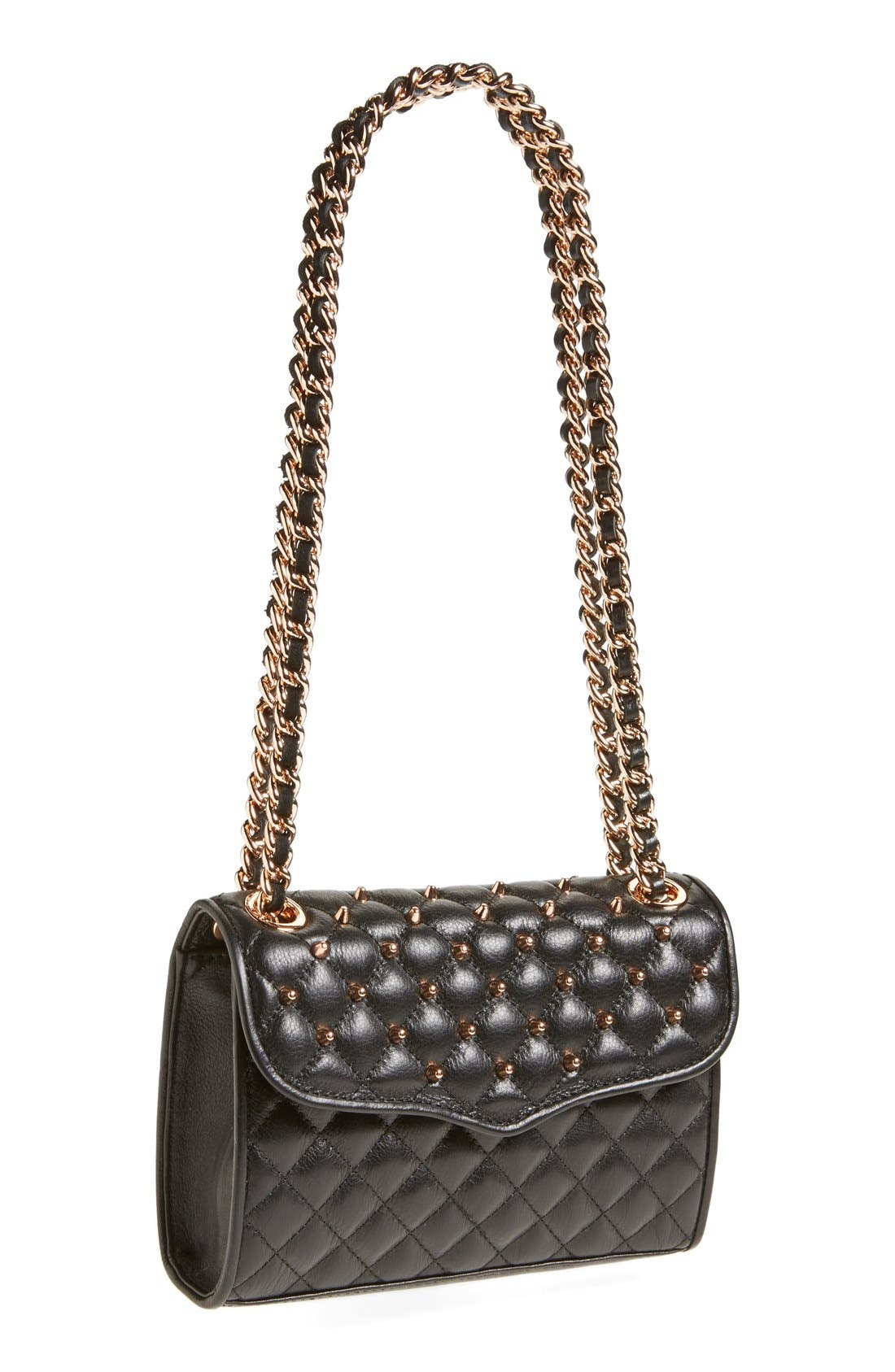 Main Image - Rebecca Minkoff 'Mini Quilted Affair with Studs' Shoulder Bag