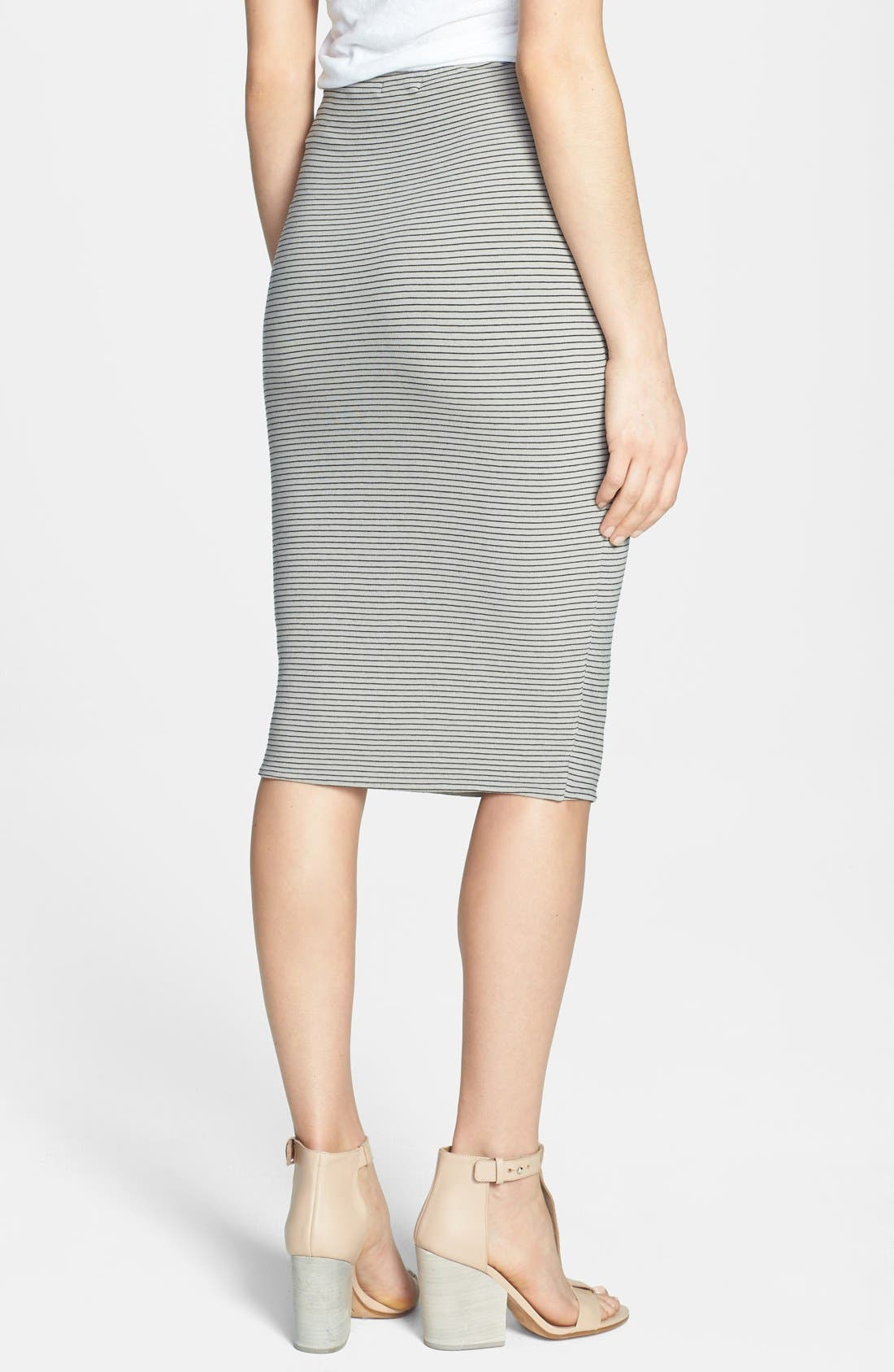 Alternate Image 2  - James Perse Stripe Tie Front Tube Skirt