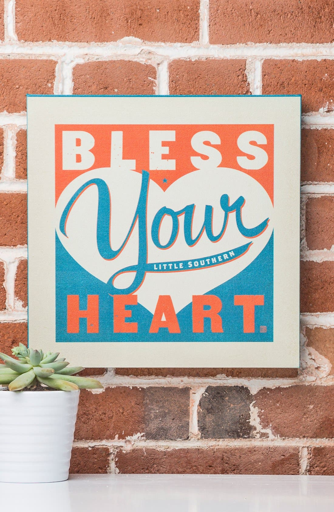 Alternate Image 2  - DENY Designs 'Anderson Design Group - Bless Your Little Southern Heart' Canvas Wall Art