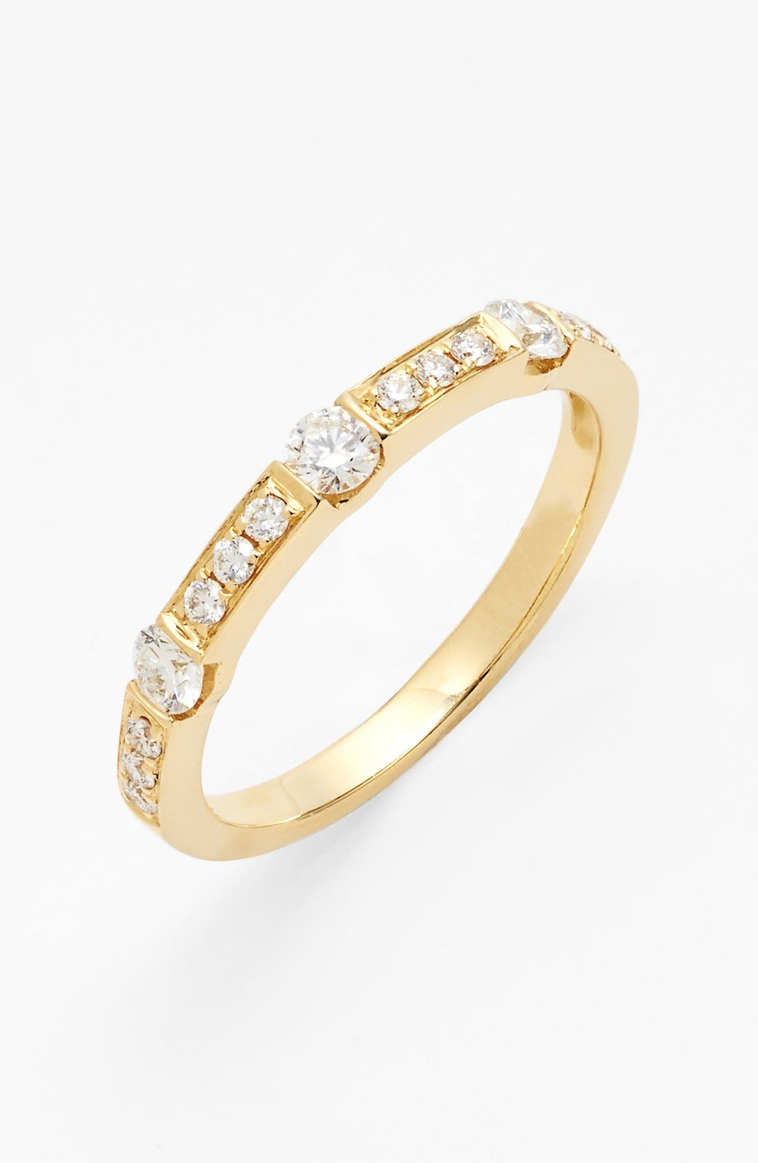 Main Image - Bony Levy 'Linea' Diamond Band Ring (Nordstrom Exclusive)