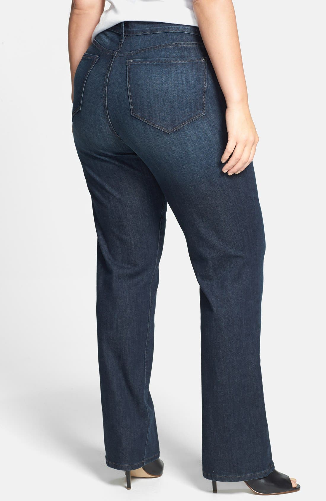 Alternate Image 2  - NYDJ 'Marilyn' Stretch Straight Leg Jeans (Harrington) (Plus Size)