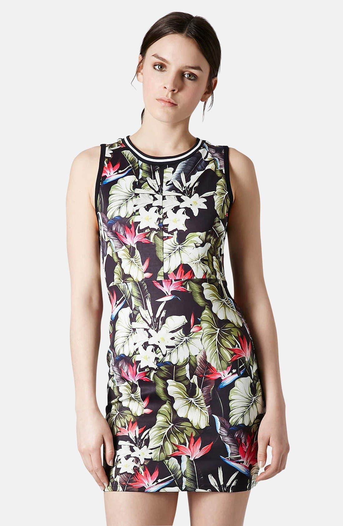 Main Image - Topshop 'Island Life' Tropical Print Body-Con Dress