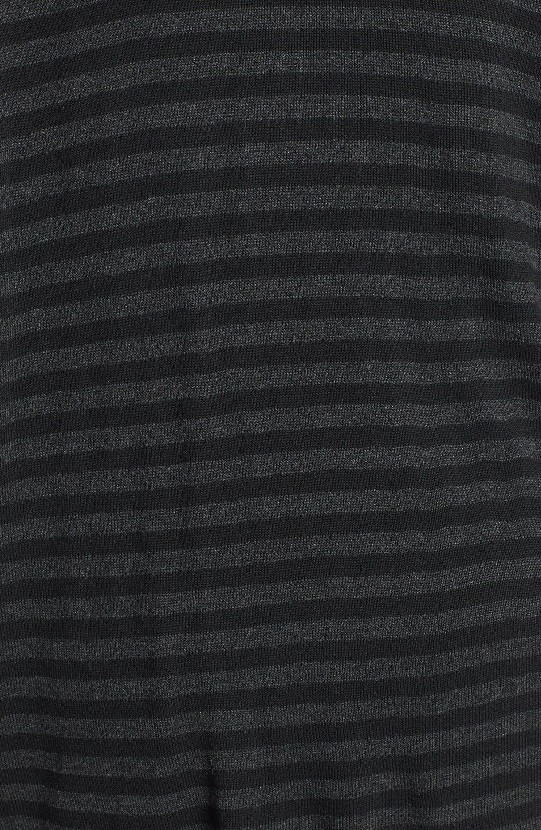 Alternate Image 3  - Eileen Fisher Scrunch Neck Stripe Sweater (Plus Size)