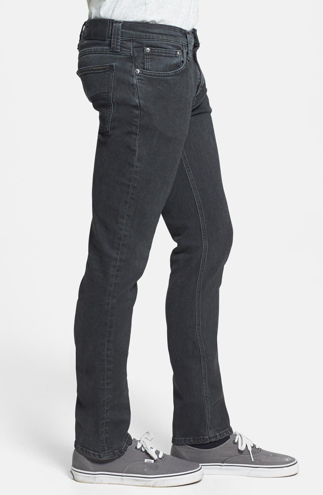Alternate Image 3  - Nudie Jeans 'Tube Tom' Skinny Fit Jeans (Organic Painted Black)
