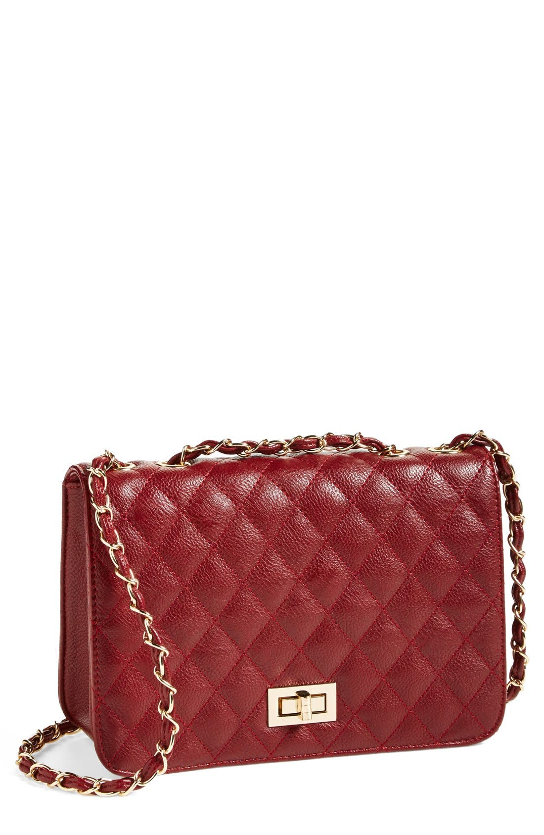 Alternate Image 1 Selected - NB Handbags Quilted Convertible Crossbody Bag (Juniors) (Online Only)