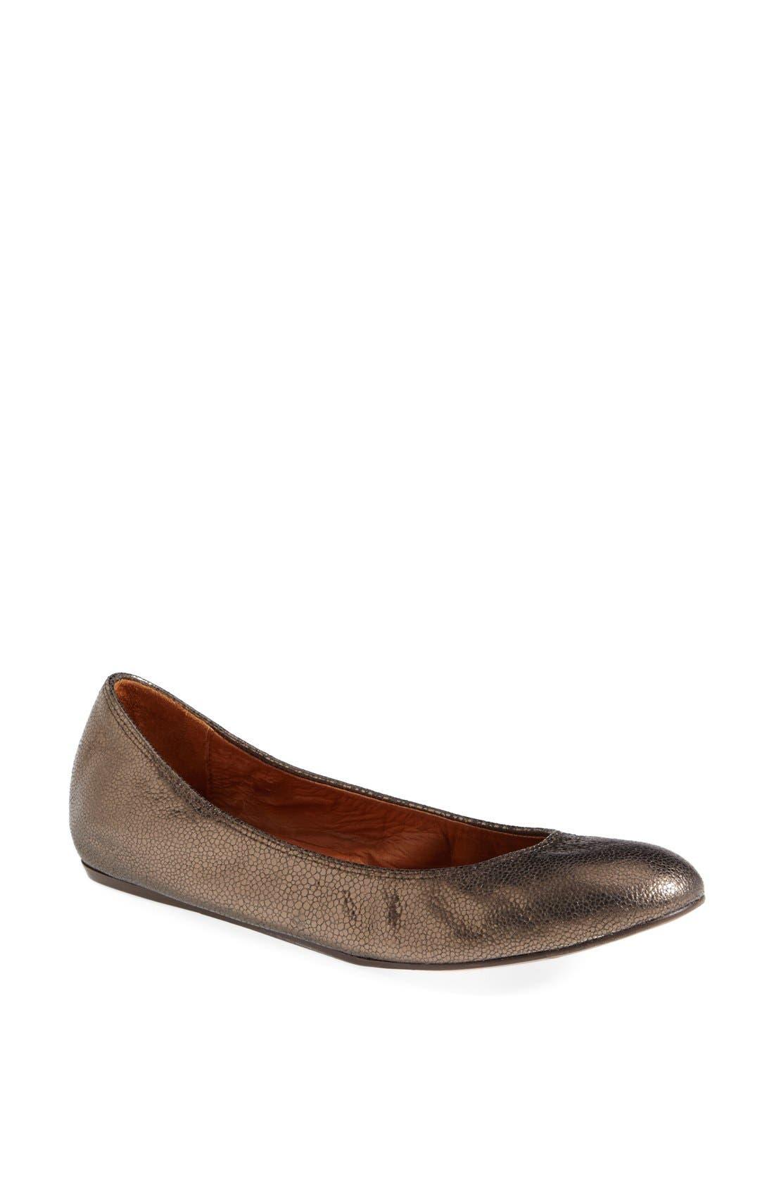 Alternate Image 1 Selected - Lanvin Metallic Leather Ballerina Flat (Women)