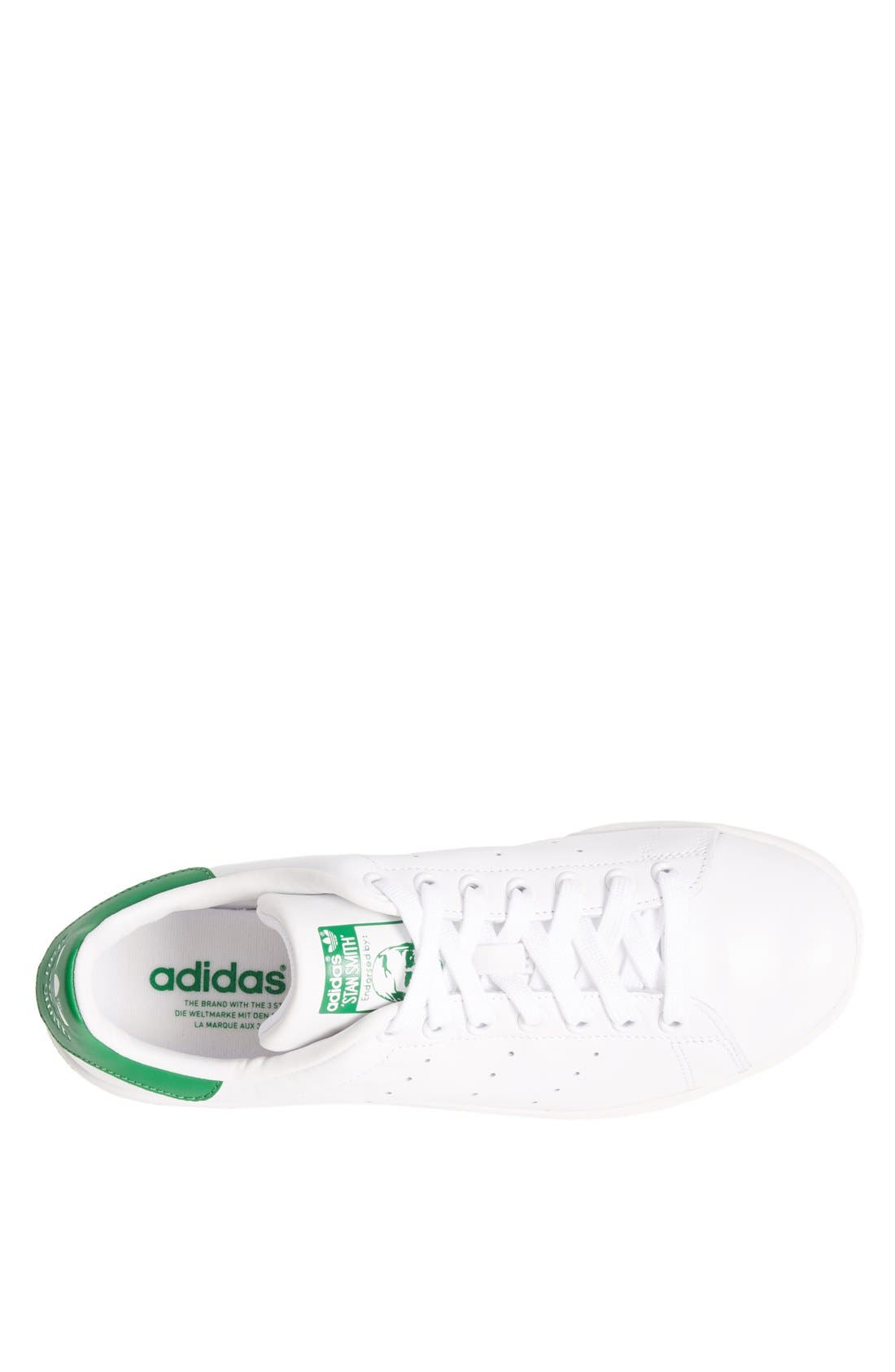 'Stan Smith' Sneaker,                             Alternate thumbnail 3, color,                             Core White/ Green