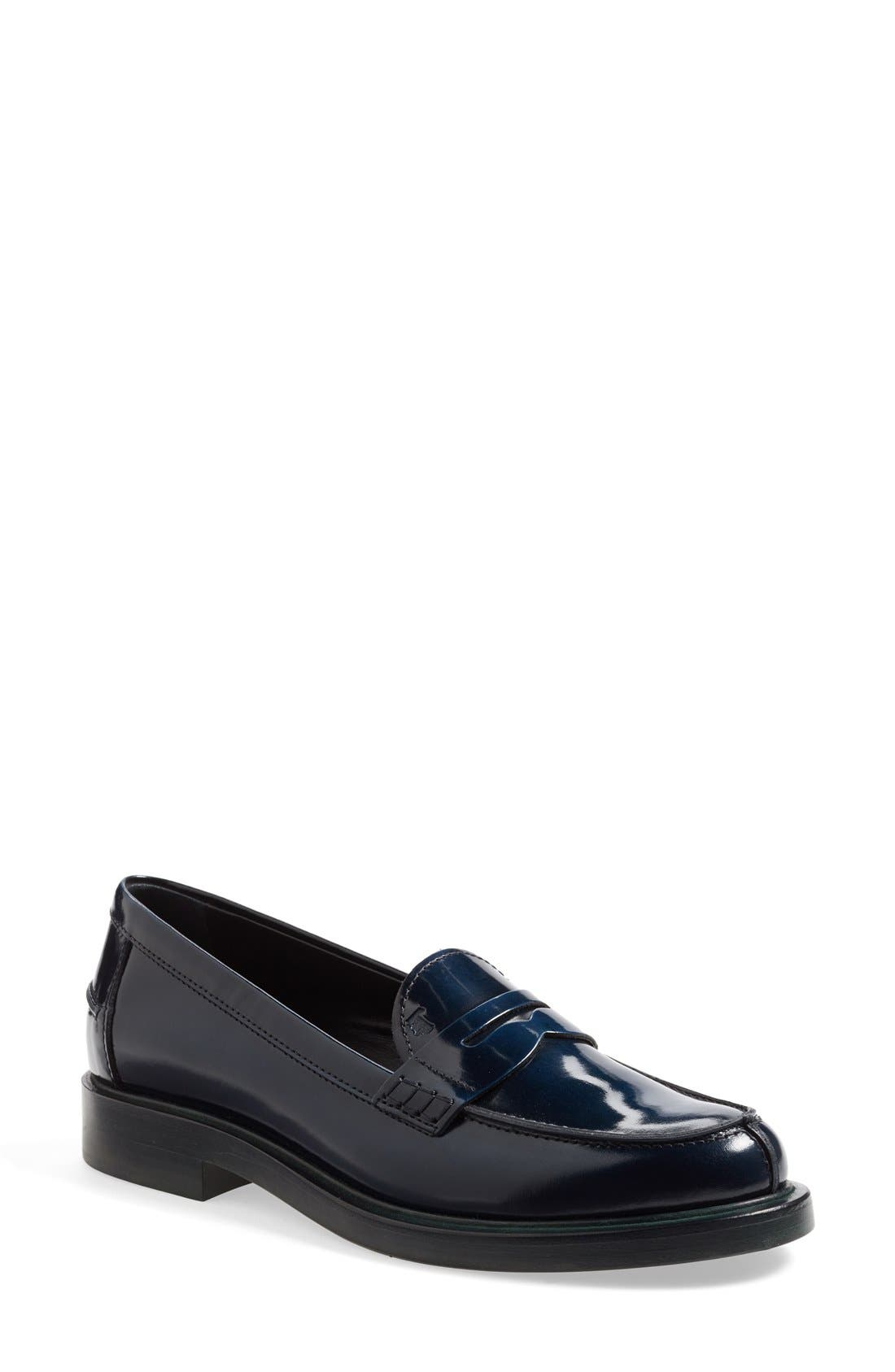 Main Image - Tod's Leather Penny Loafer (Women)