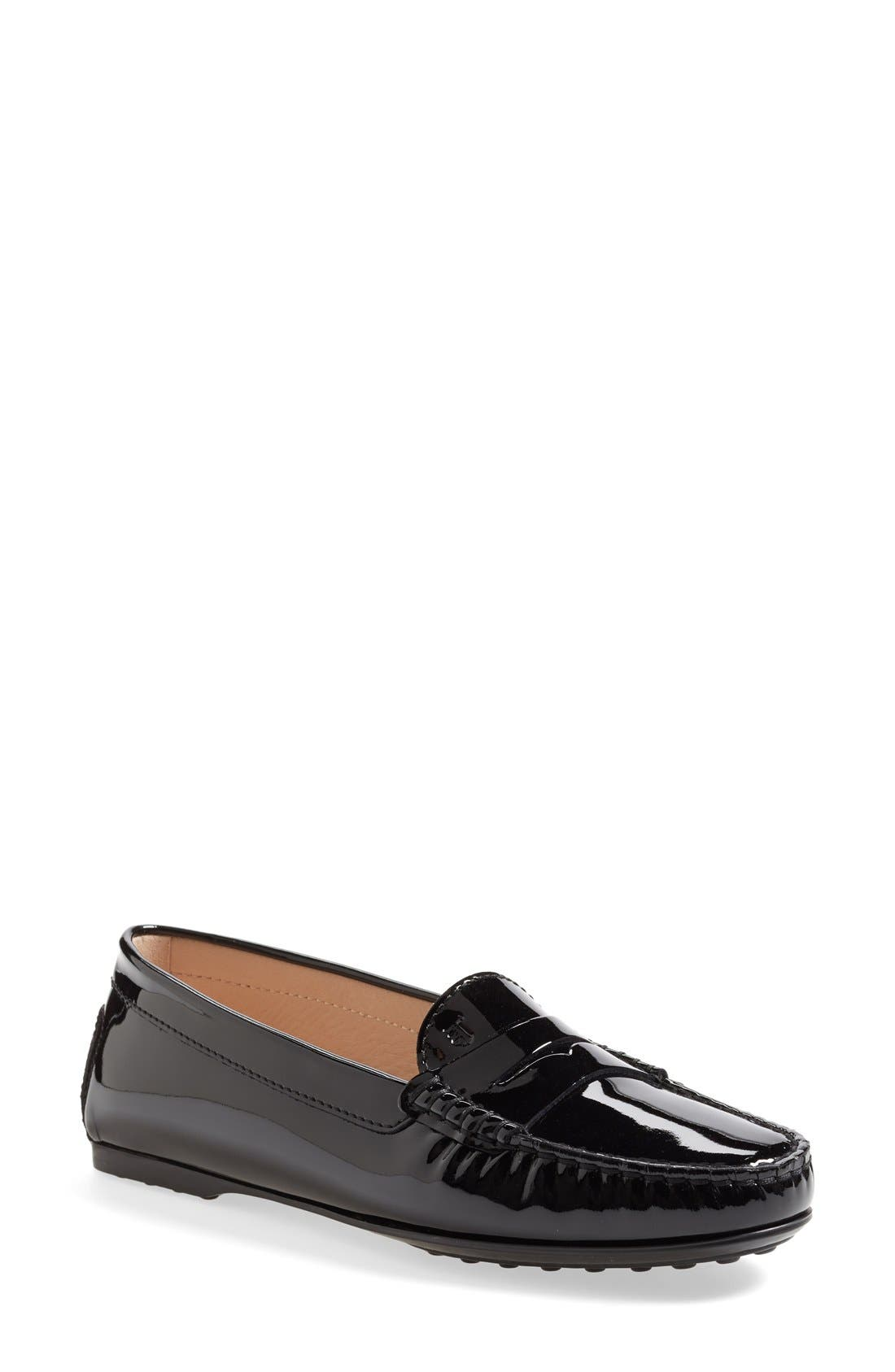 Alternate Image 1 Selected - Tod's Patent Leather Penny Loafer (Women)