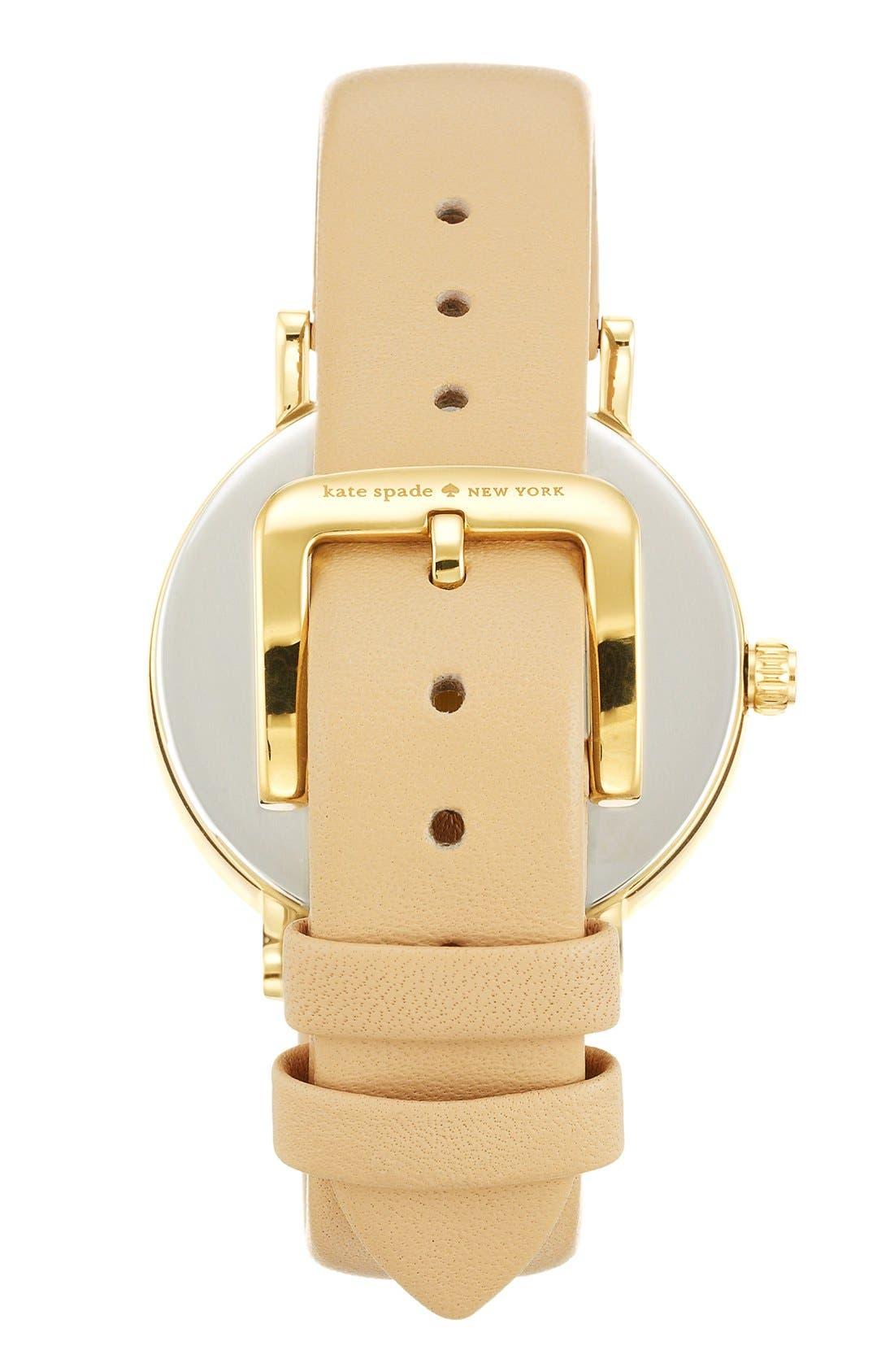Alternate Image 2  - kate spade new york 'metro - somewhere' leather strap watch, 35mm