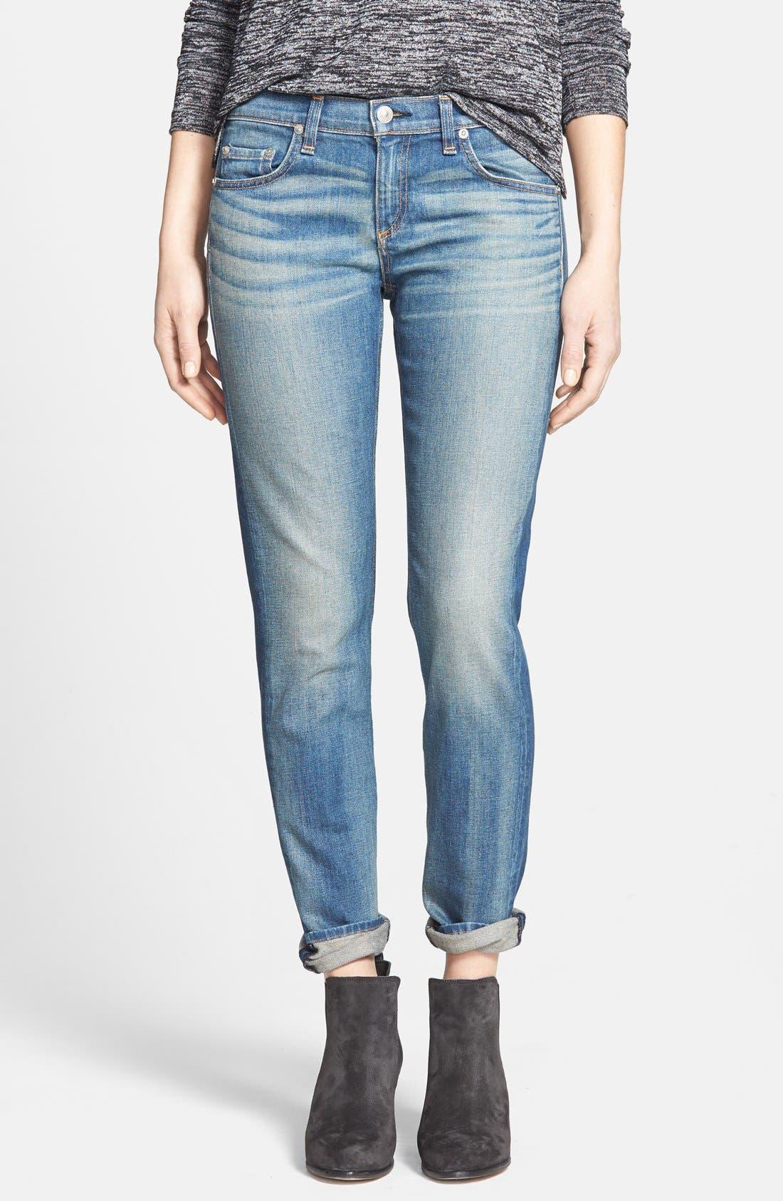 Main Image - rag & bone/JEAN 'The Dre' Slim Fit Boyfriend Jeans (Golden) (Nordstrom Exclusive)