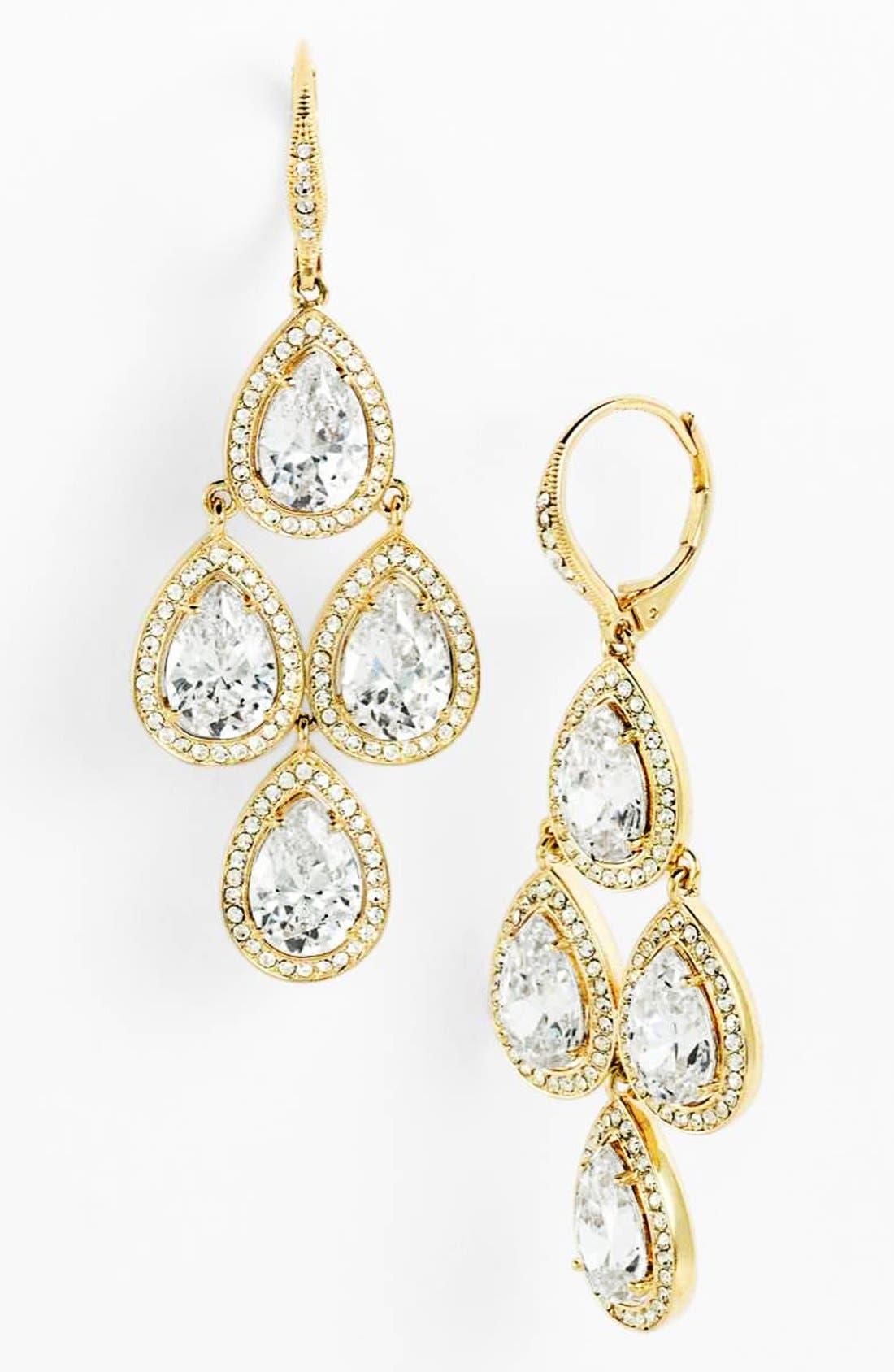 Main Image - Nadri Cubic Zirconia Chandelier Earrings (Nordstrom Exclusive)