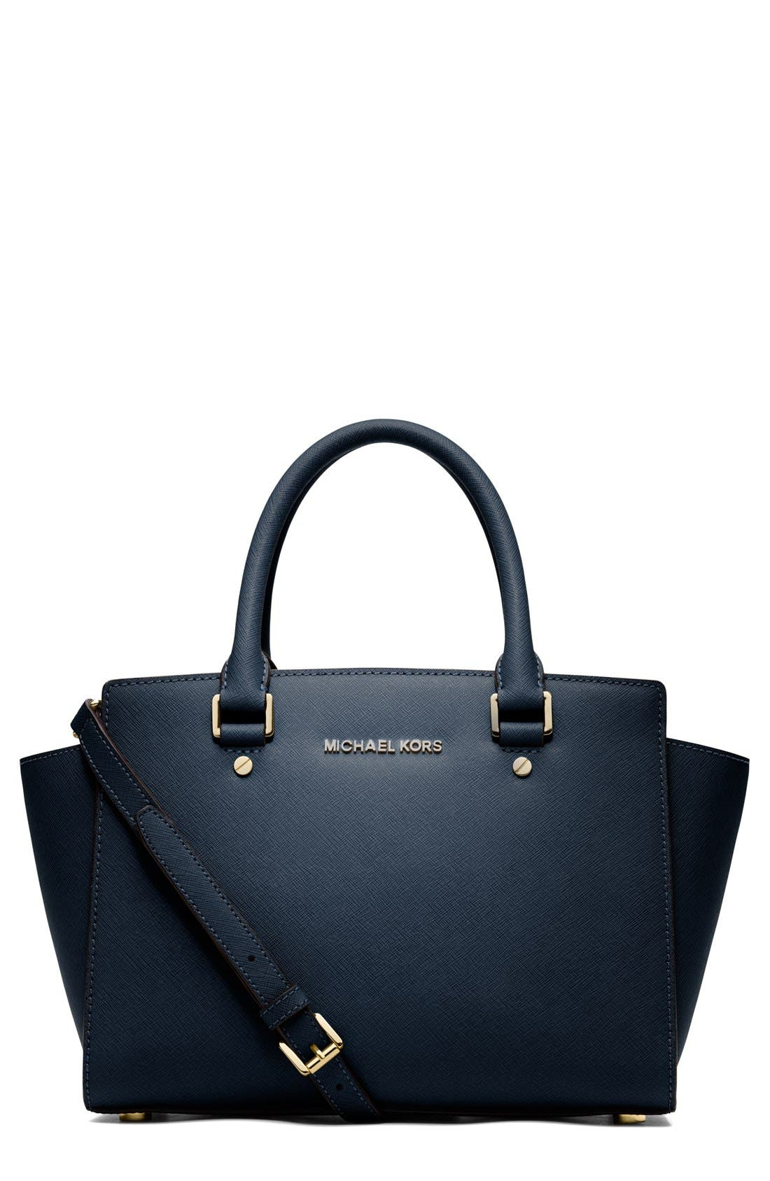 Alternate Image 1 Selected - MICHAEL Michael Kors 'Selma Medium' Leather Satchel