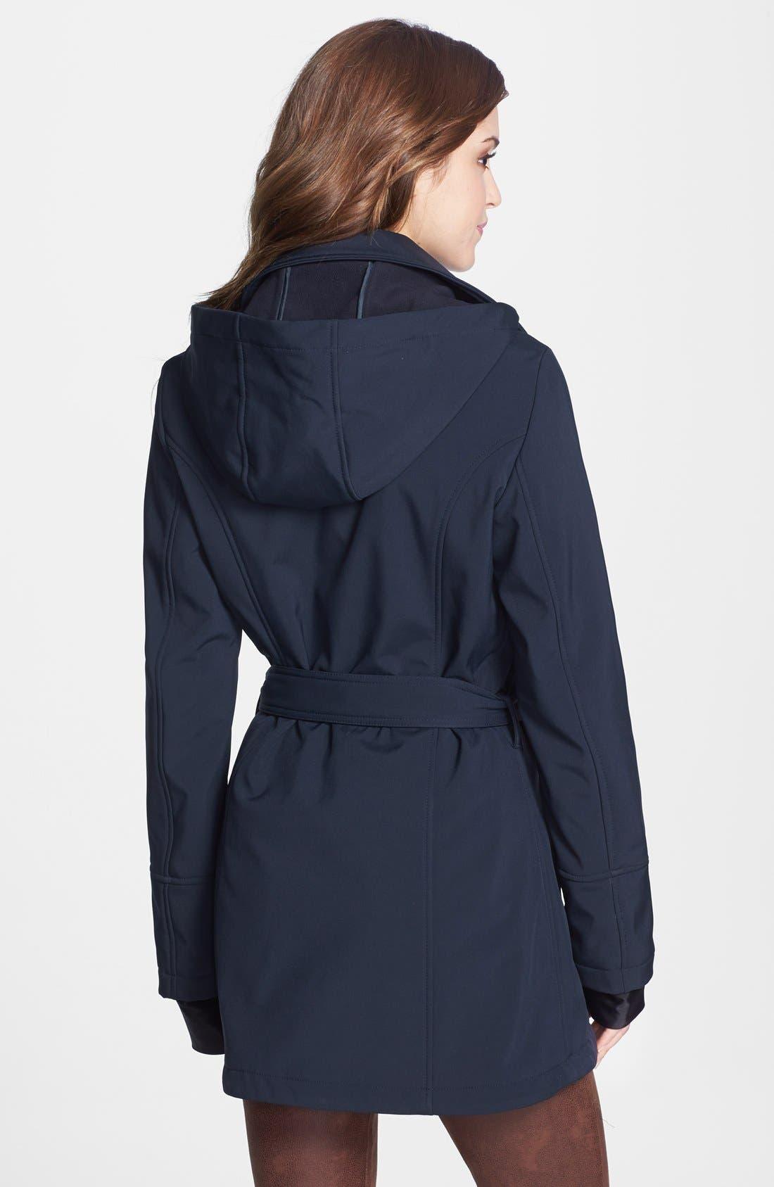 Alternate Image 3  - Betsey Johnson Tulip Hem Soft Shell Jacket