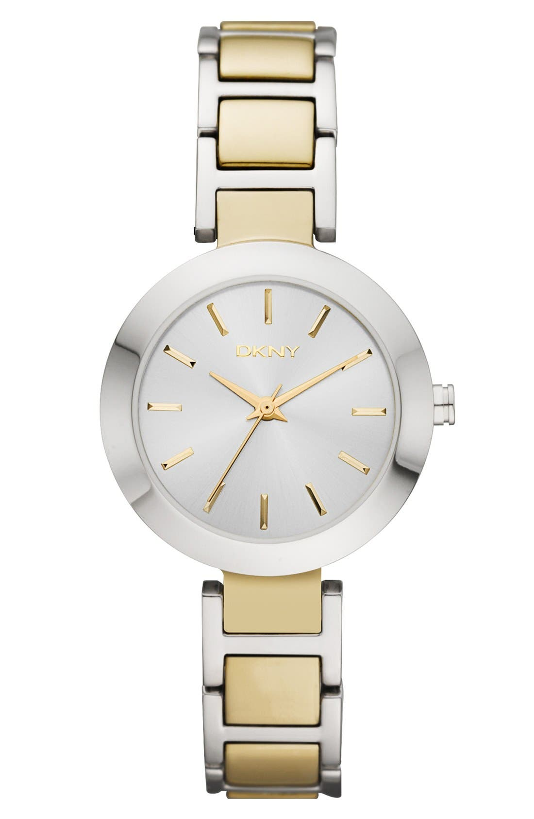 'Stanhope' Round Bracelet Watch, 28mm,                             Main thumbnail 1, color,                             Silver/ Gold