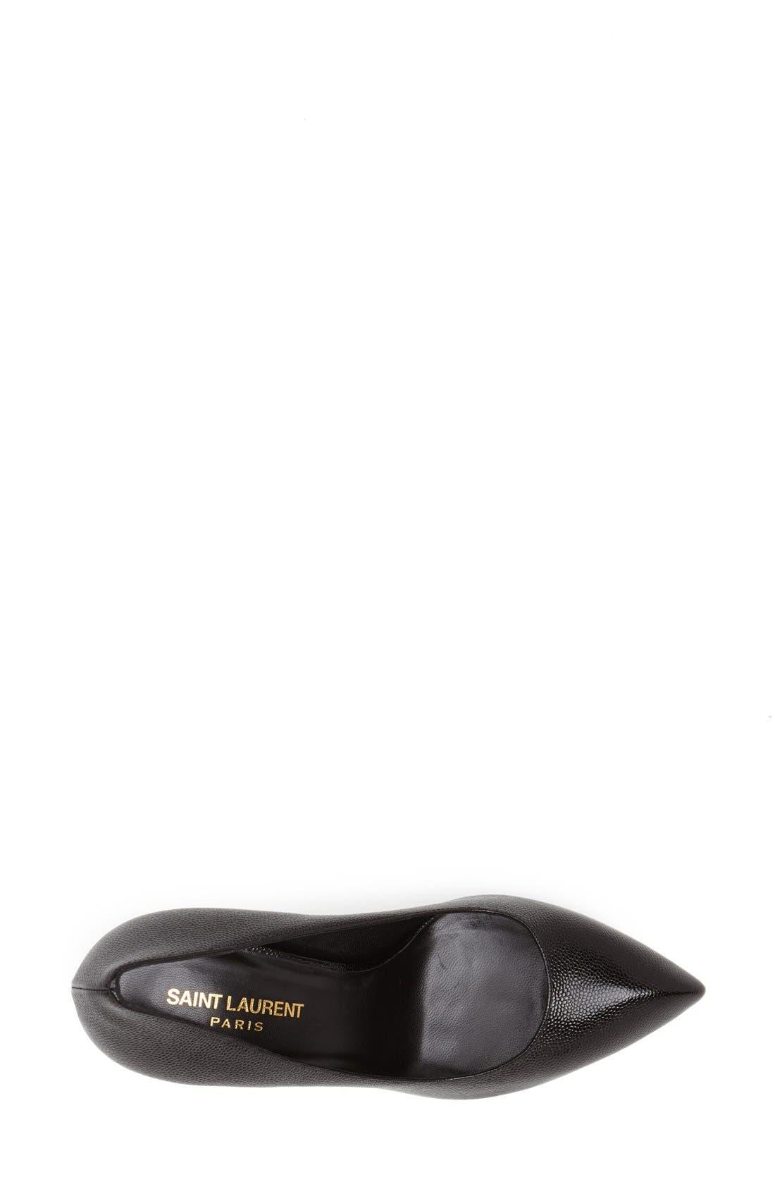 'Janis' Pointy Toe Platform Pump,                             Alternate thumbnail 3, color,                             Black