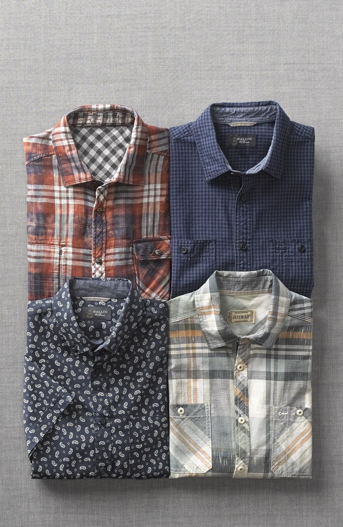 Alternate Image 5  - Jeremiah 'Ohio' Short Sleeve Reversible Plaid & Gingham Shirt