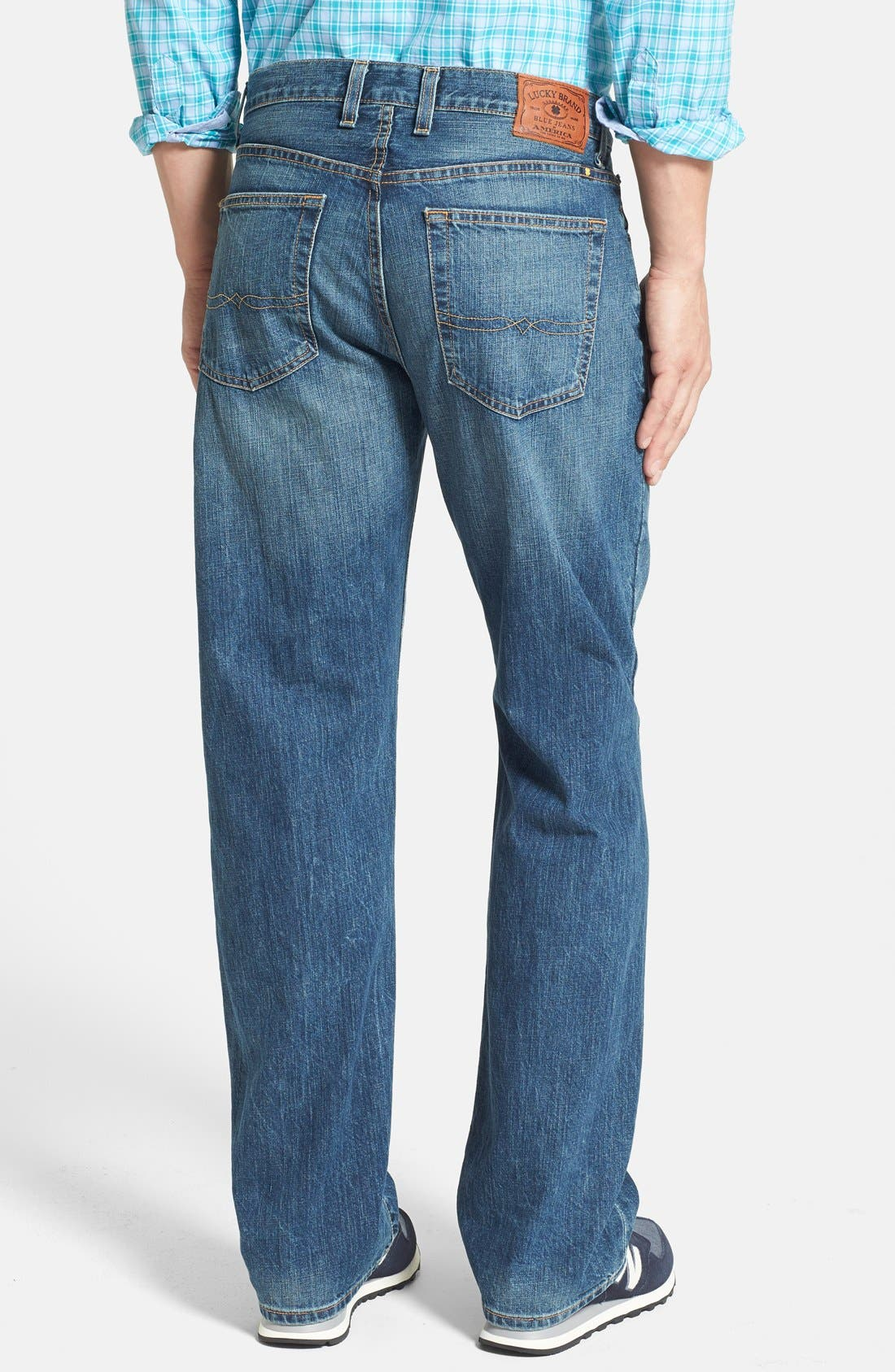 Alternate Image 2  - Lucky Brand '181' Relaxed Fit Jeans (Dellwood) (Online Only)