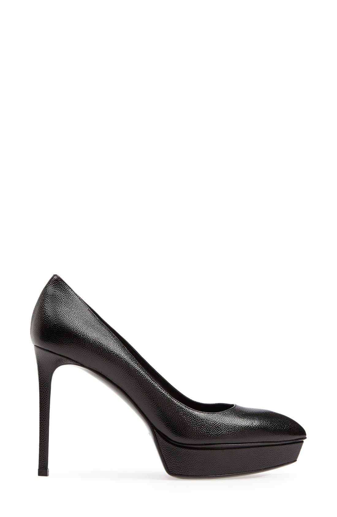 'Janis' Pointy Toe Platform Pump,                             Alternate thumbnail 4, color,                             Black