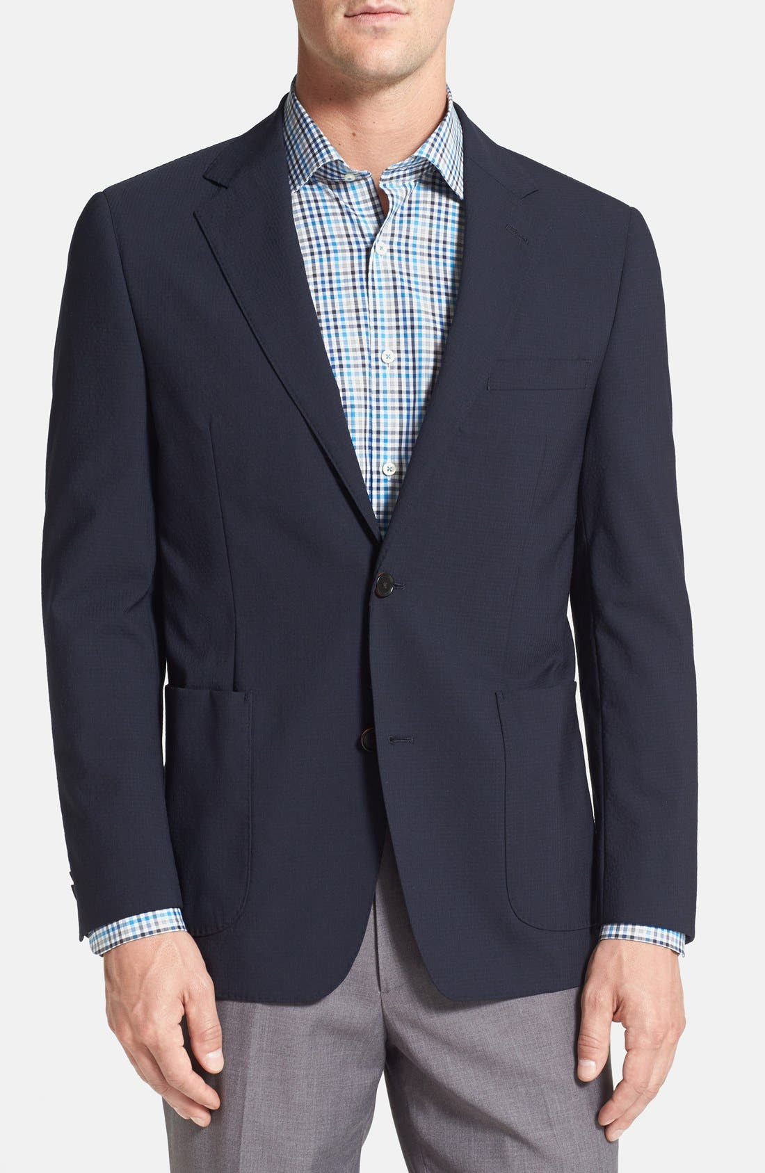 Alternate Image 1 Selected - Ibiza Modern Fit Wool Blend Sport Coat