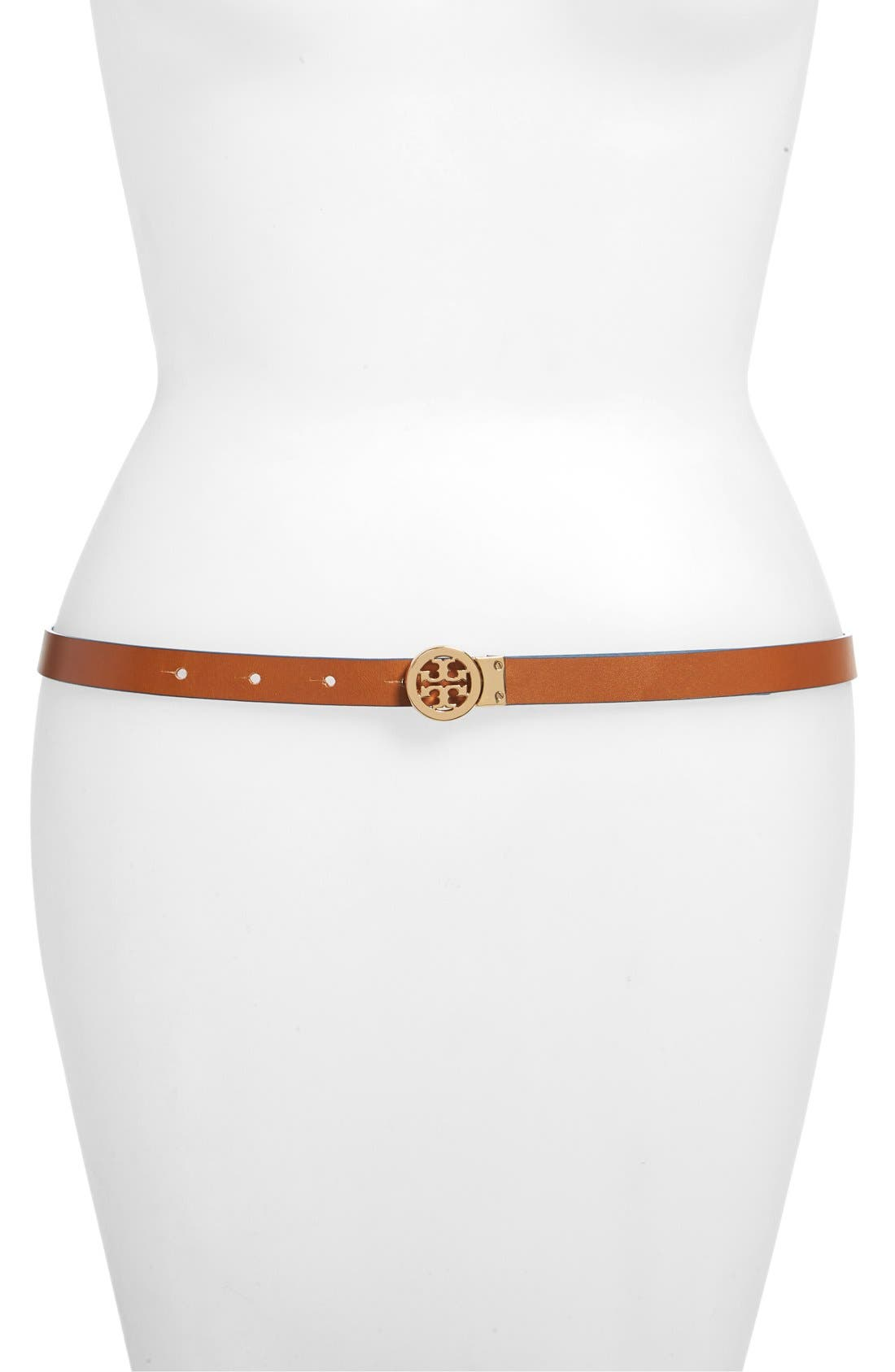 Alternate Image 2  - Tory Burch Mini Rotating Logo Leather Belt
