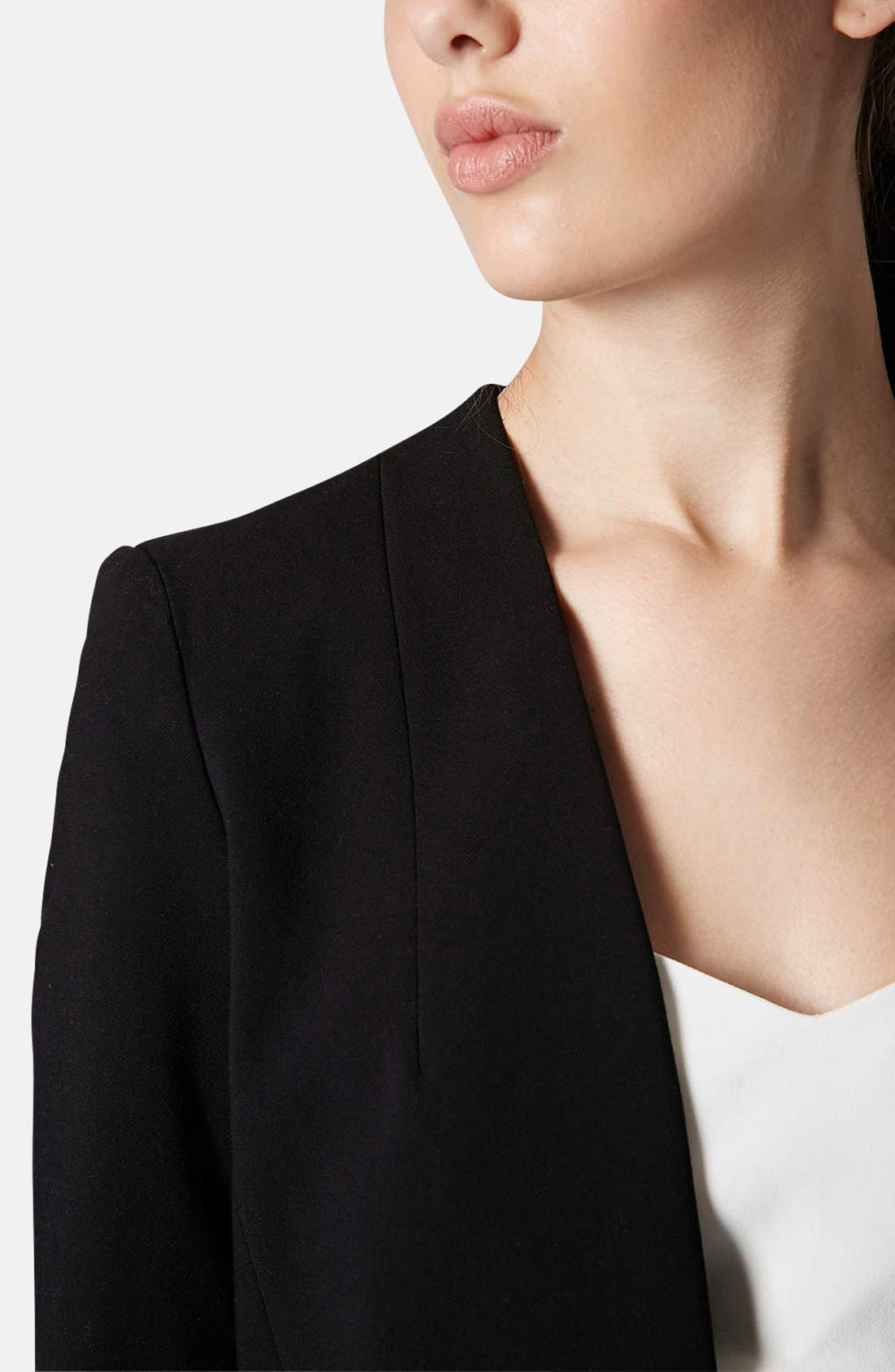 Alternate Image 4  - Topshop Open Front Blazer