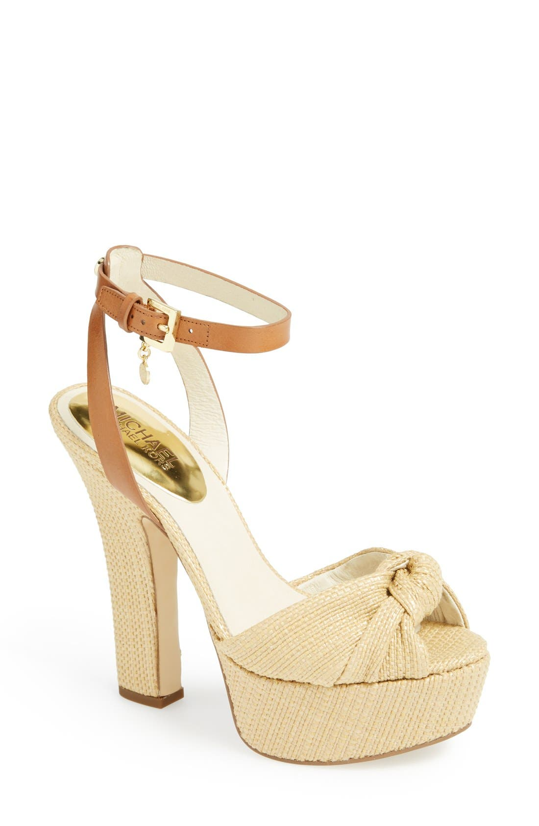 Alternate Image 1 Selected - MICHAEL Michael Kors 'Benji' Platform Sandal