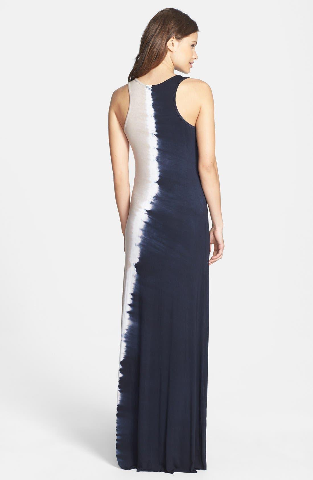 Alternate Image 2  - Felicity & Coco Tie Dye Jersey Maxi Dress (Petite) (Nordstrom Exclusive)