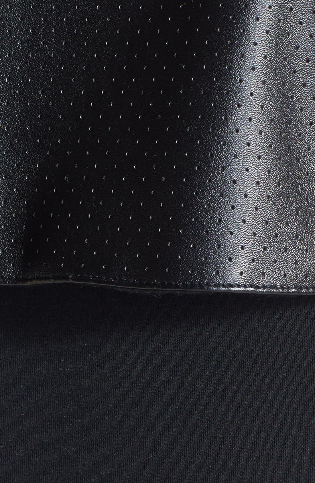 Alternate Image 3  - Solow Faux Leather Trim Fleece Vest (Online Only)