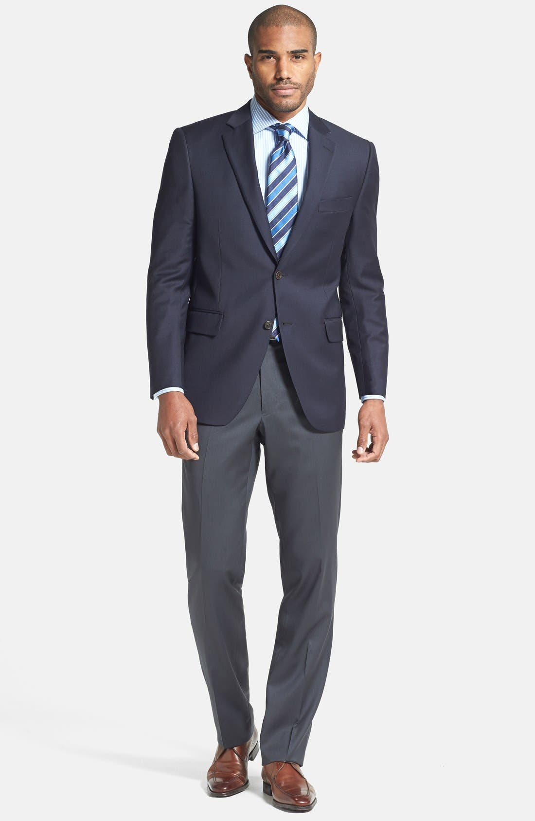 Alternate Image 6  - Peter Millar 'Flynn' Classic Fit Navy Wool Blazer