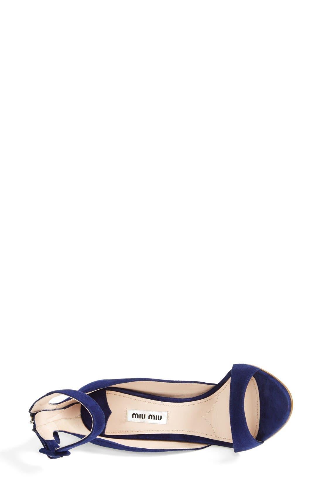 Alternate Image 3  - Miu Miu Ankle Strap Band Sandal