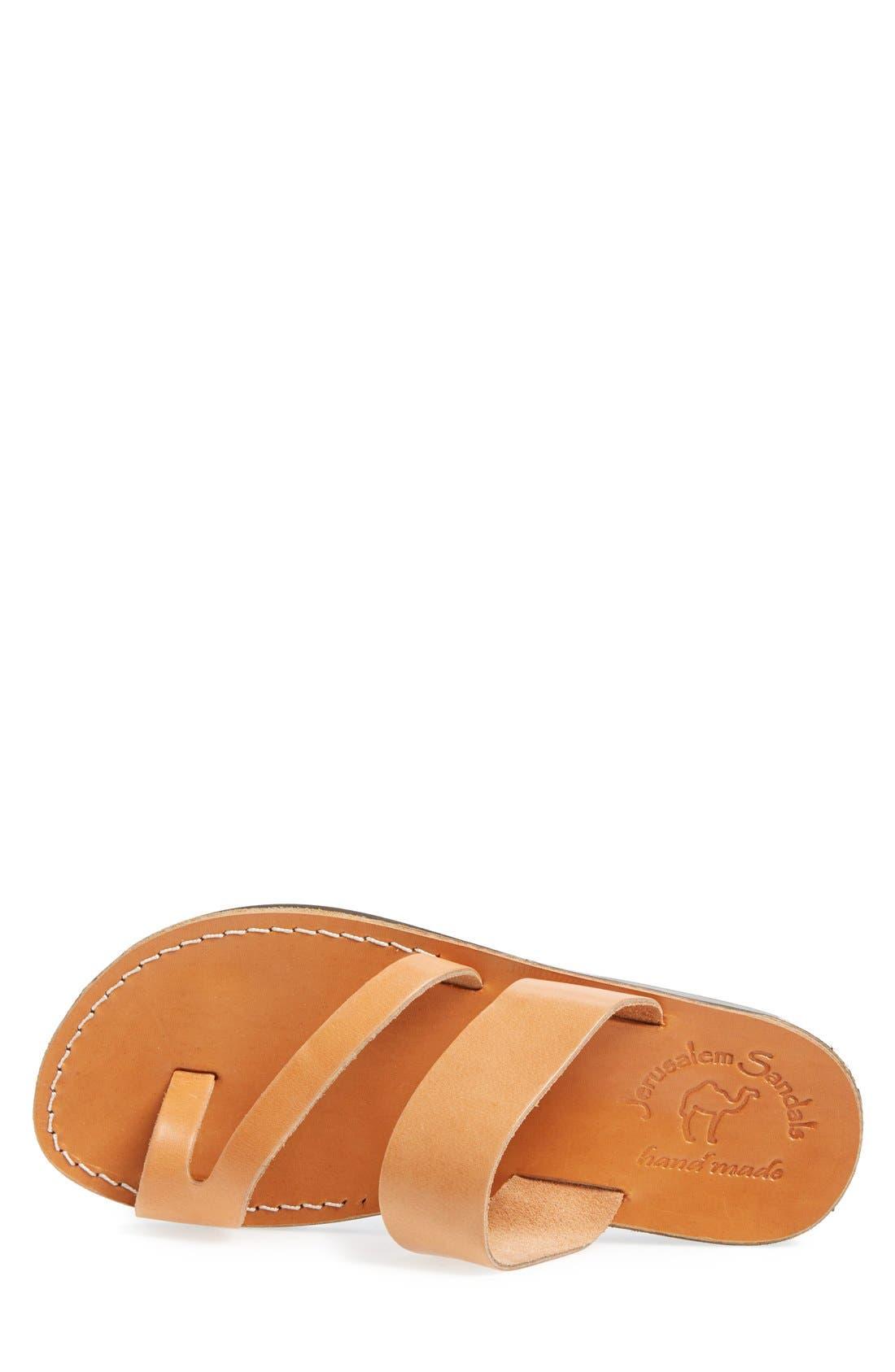 'Zohar' Leather Sandal,                             Alternate thumbnail 3, color,                             Tan