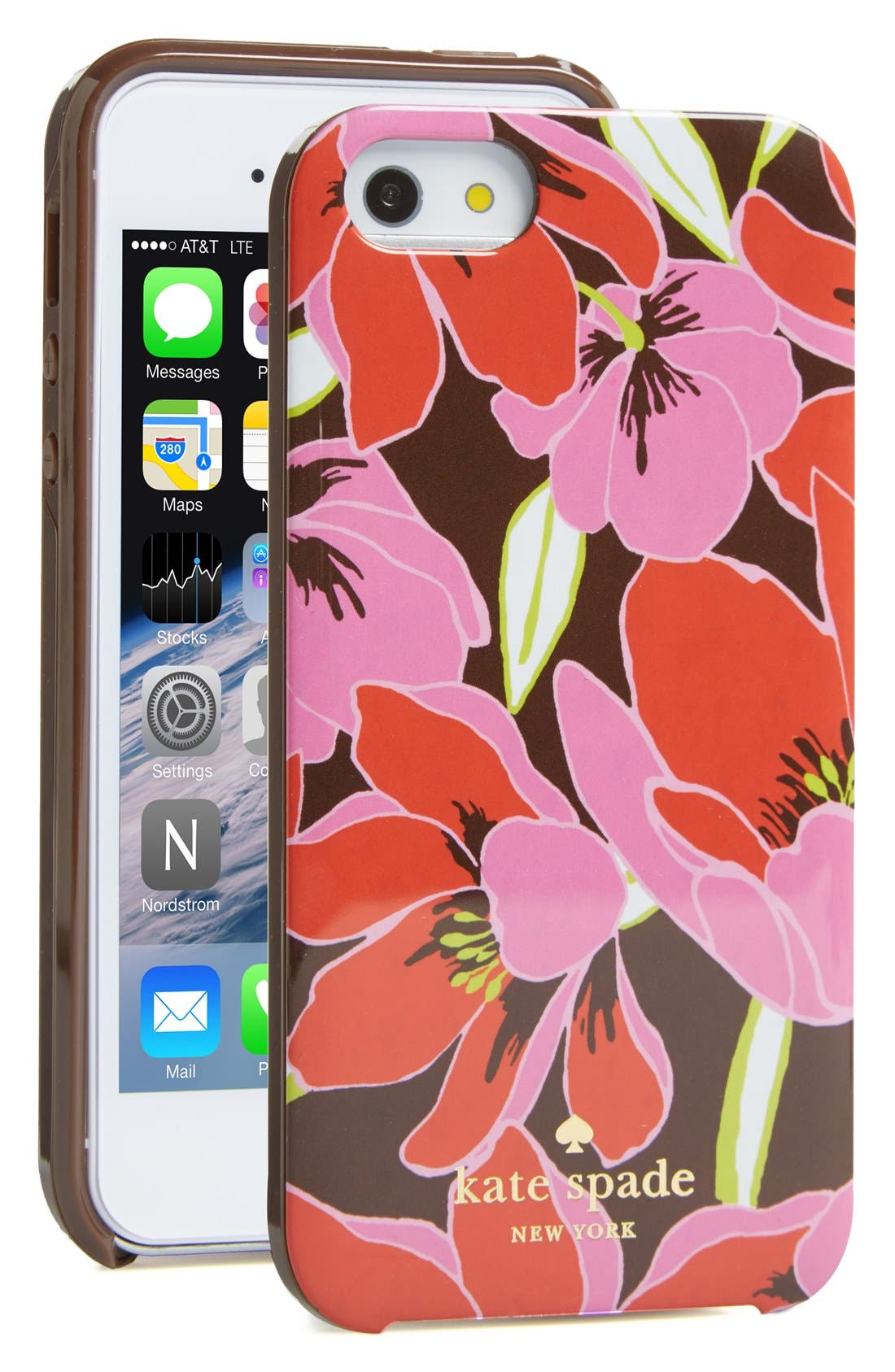 Alternate Image 1 Selected - kate spade new york 'tropical floral' iPhone 5 & 5s case