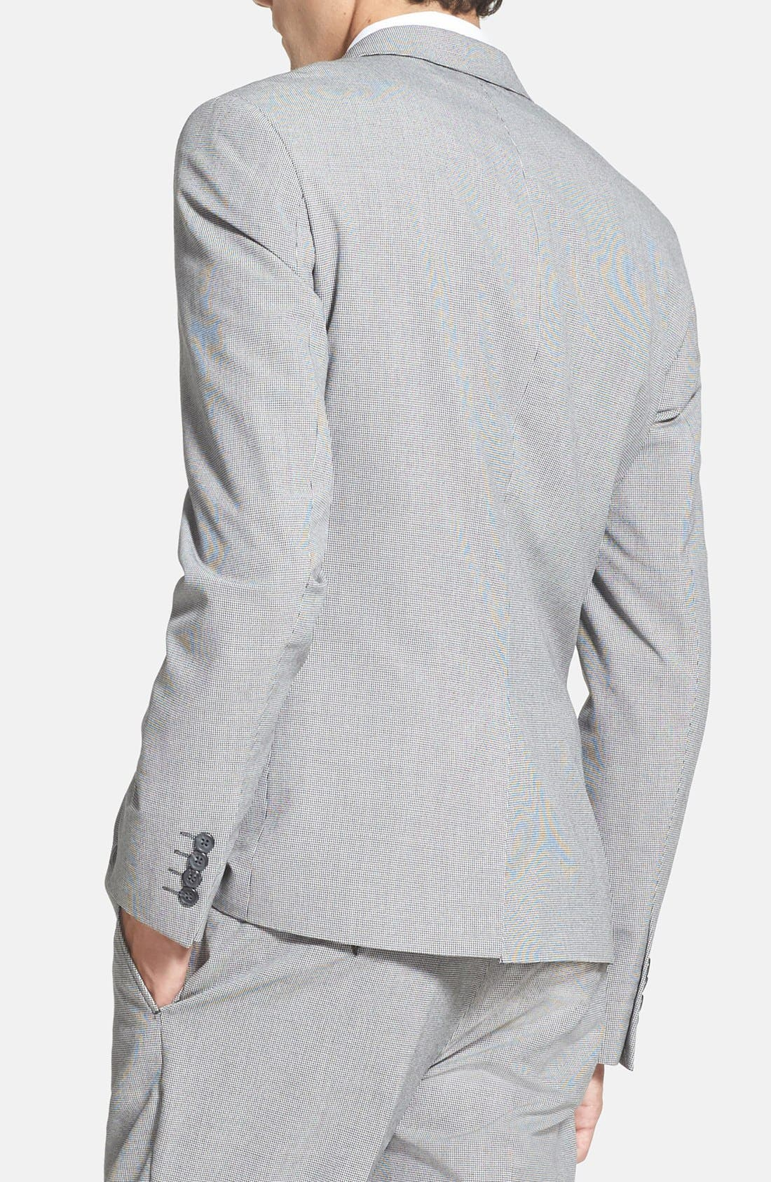 Alternate Image 2  - Topman Skinny Fit Micro Houndstooth Suit Jacket