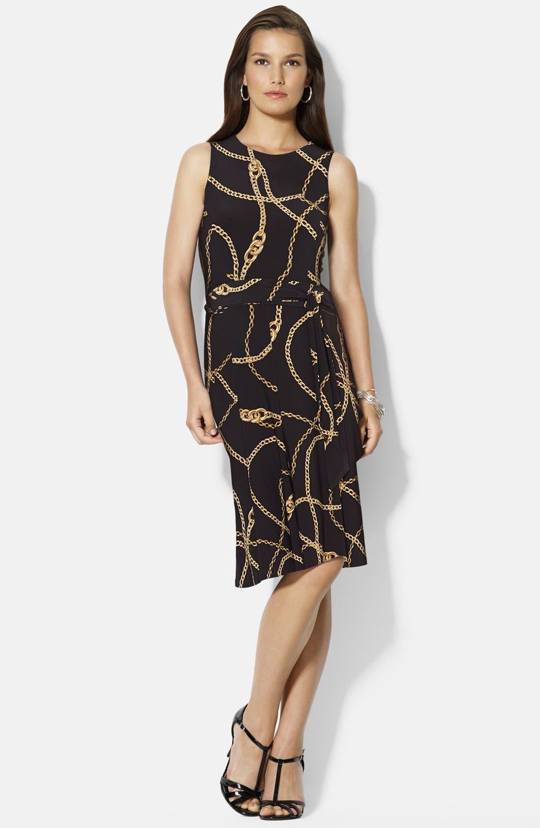 Alternate Image 3  - Lauren Ralph Lauren Belted Print Jersey Dress