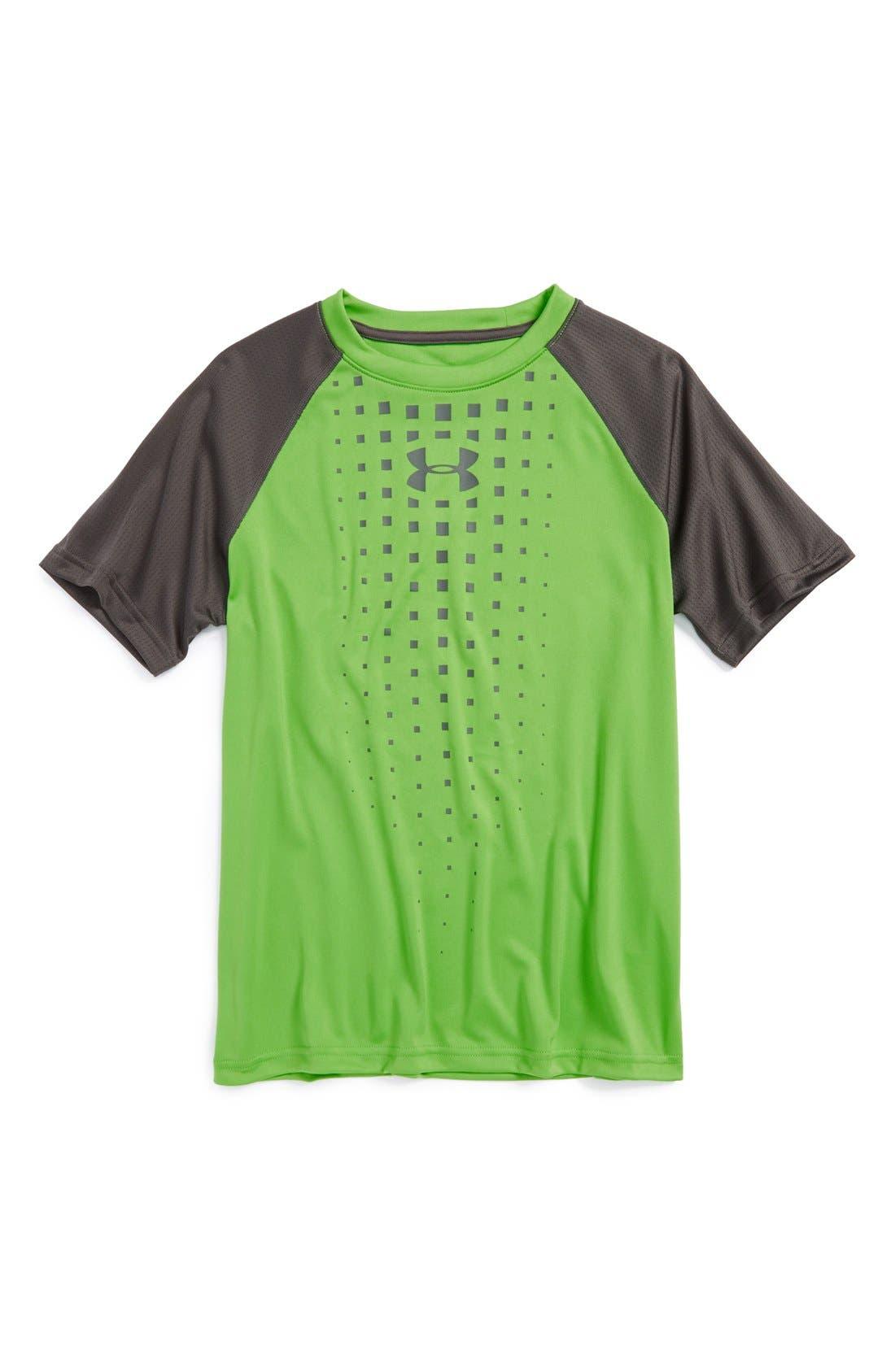 Main Image - Under Armour 'Awesomeness' HeatGear® Short Sleeve T-Shirt (Little Boys)