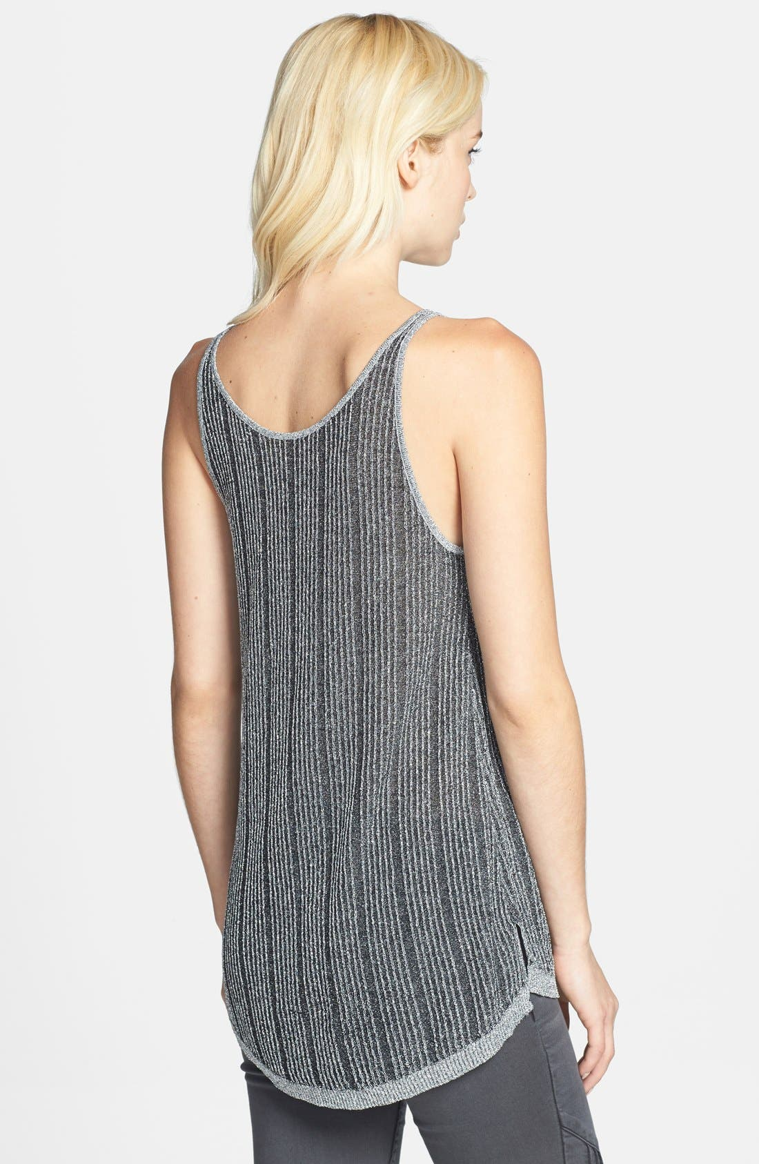 Alternate Image 2  - Leith Metallic Rib Knit Slouchy Tank