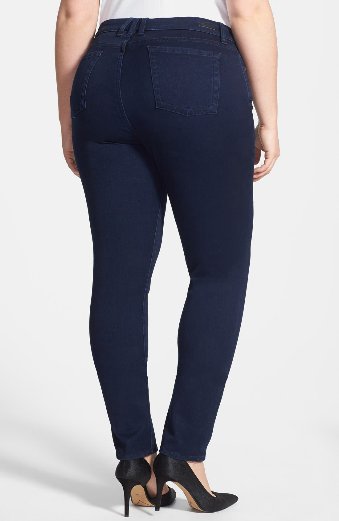 Alternate Image 2  - KUT from the Kloth 'Diana' Stretch Skinny Jeans (Discrete) (Plus Size)
