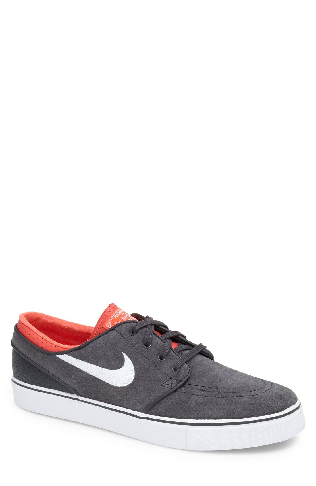 'Zoom - Stefan Janoski' Skate Shoe,                             Main thumbnail 1, color,                             Anthracite/ Red/ Black/ White